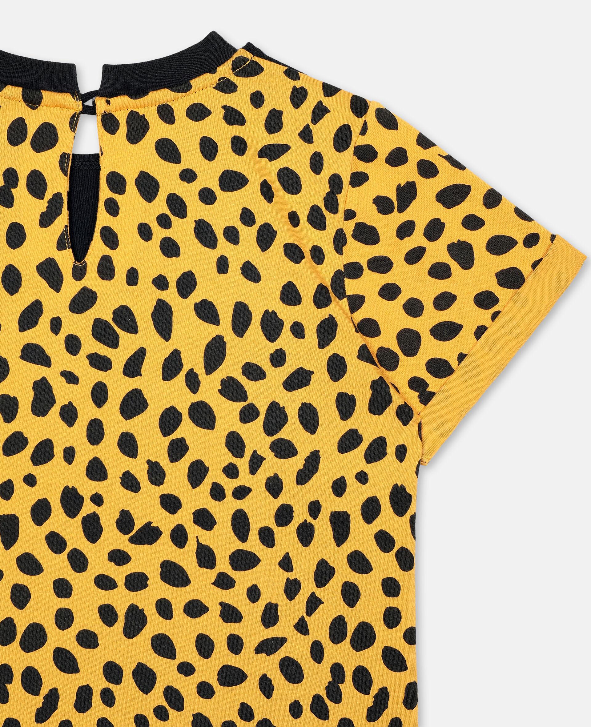 Robe en coton à motif guépard-Noir-large image number 2