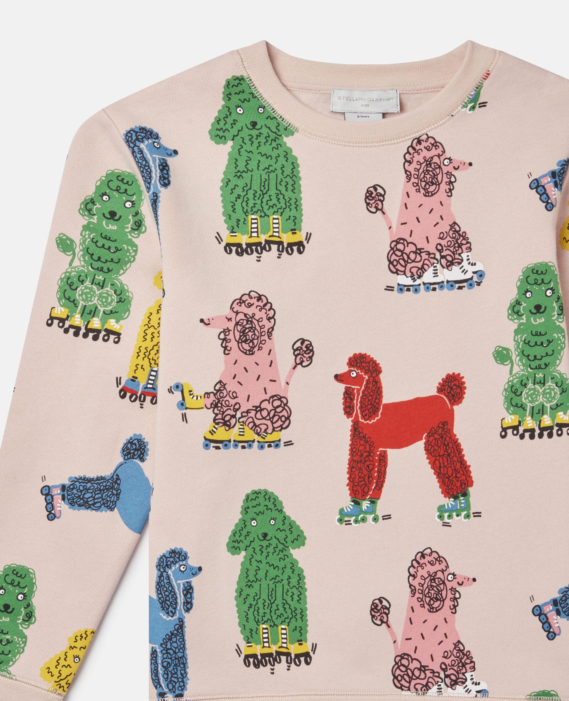 Sweatshirt aus Fleece mit Pudel-Print -Rose-large image number 1