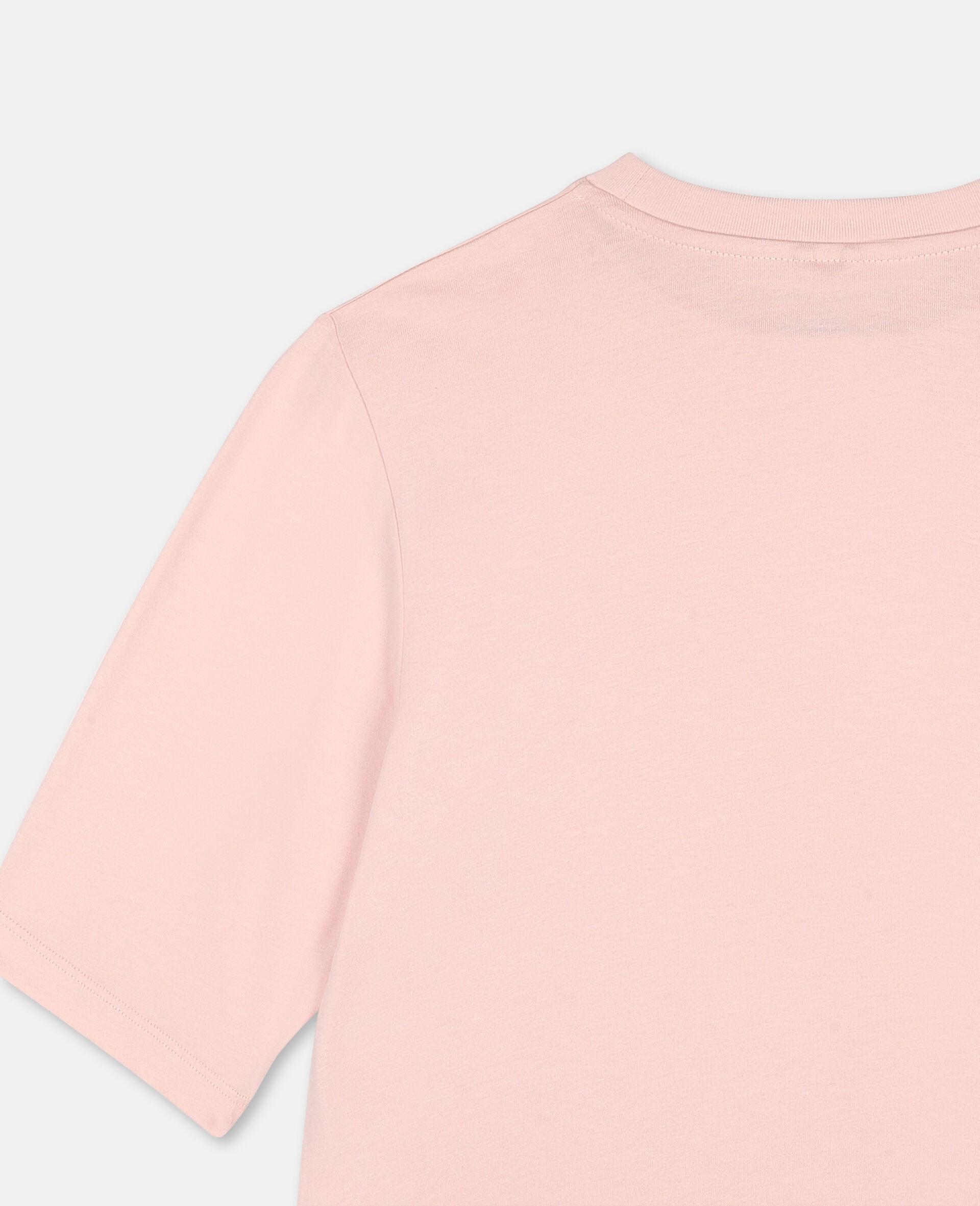 T-shirt de sport en coton oversize avec logo -Rose-large image number 2