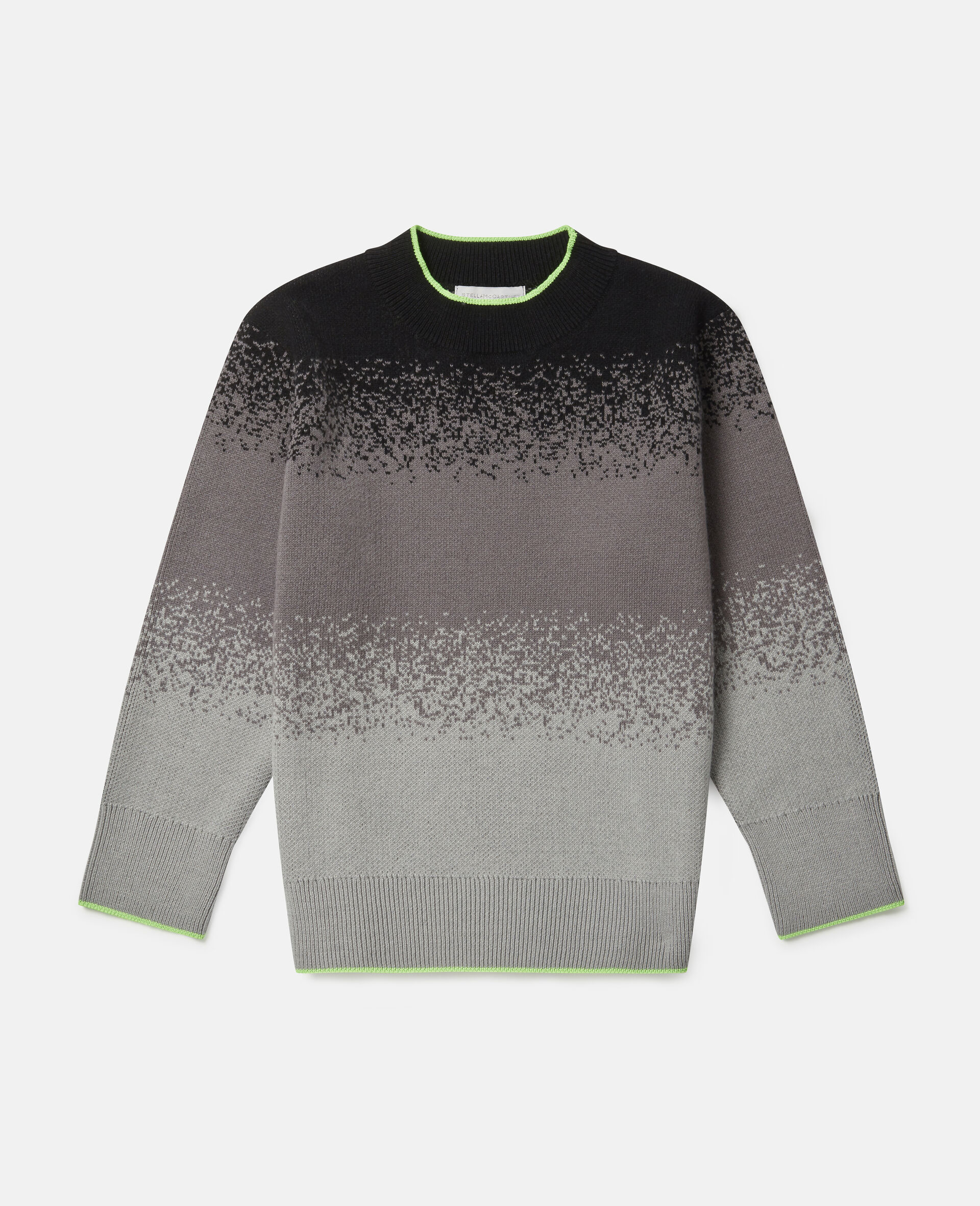 Spray Painted Effect Oversized Knit Jumper-Grey-large image number 0