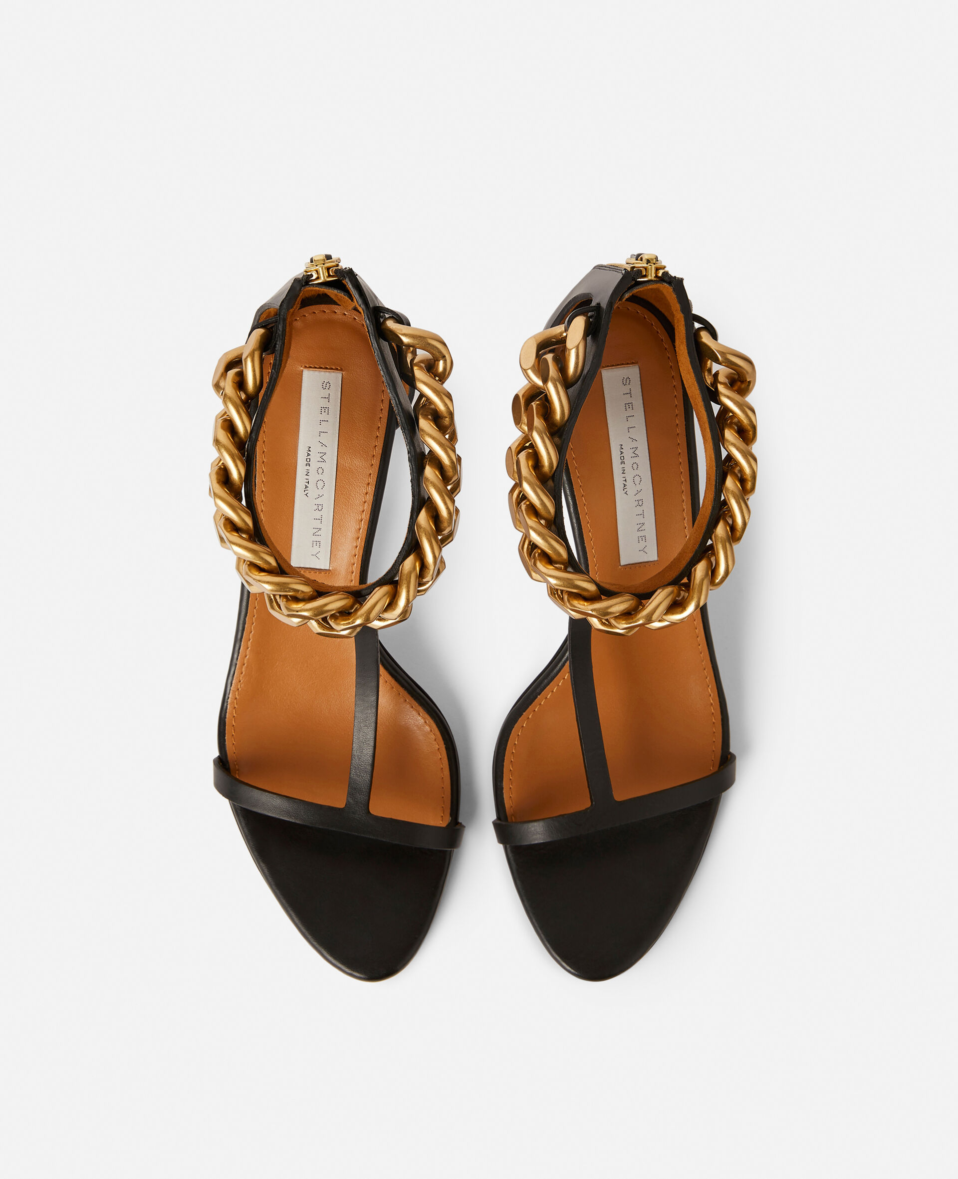 Falabella Heel Sandal -Black-large image number 3