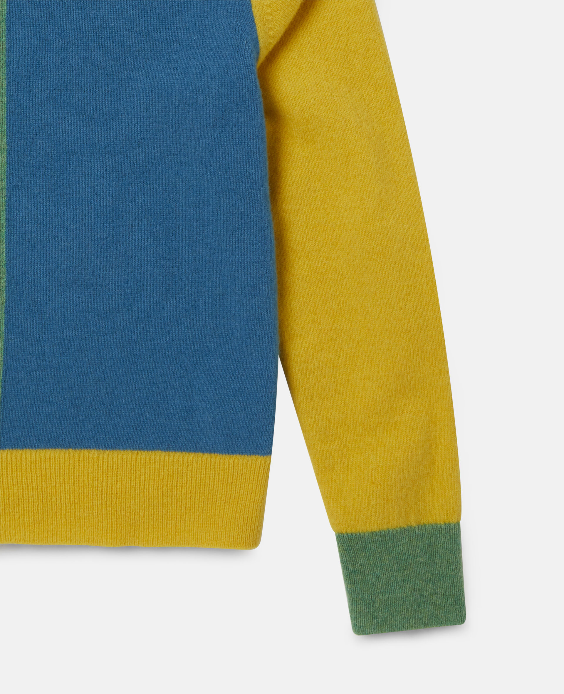 Colorblock Knit Intarsia Sweater -Multicolour-large image number 2