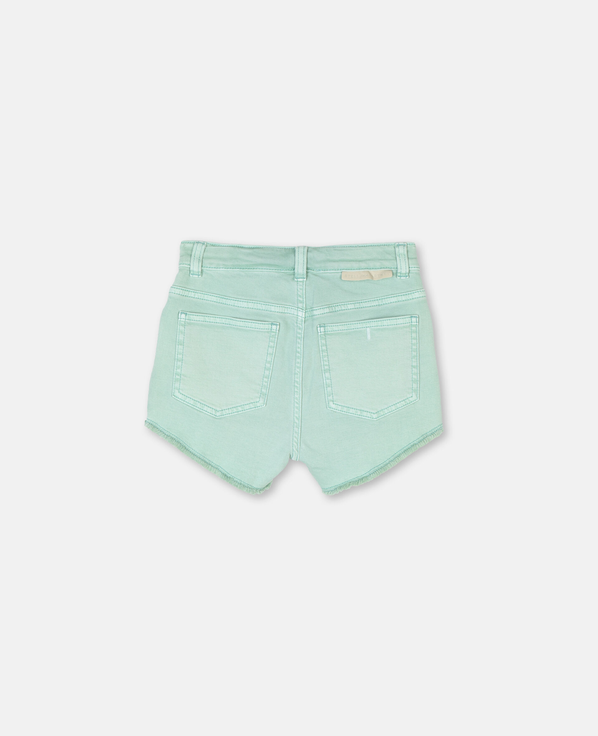 Denim Mint Shorts -Green-large image number 3