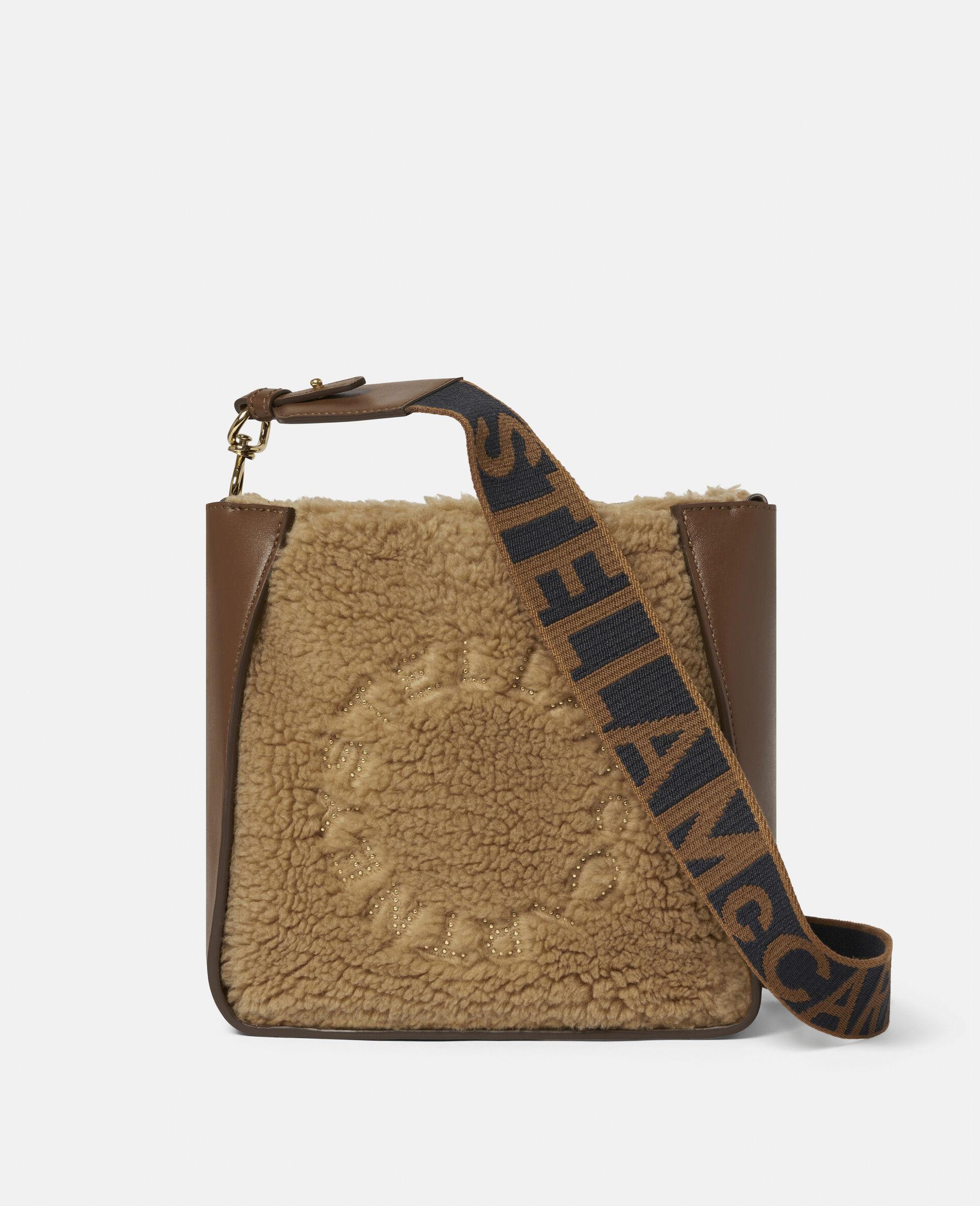 Sac porté épaule en Teddy Mat logo Stella-Marron-large image number 0