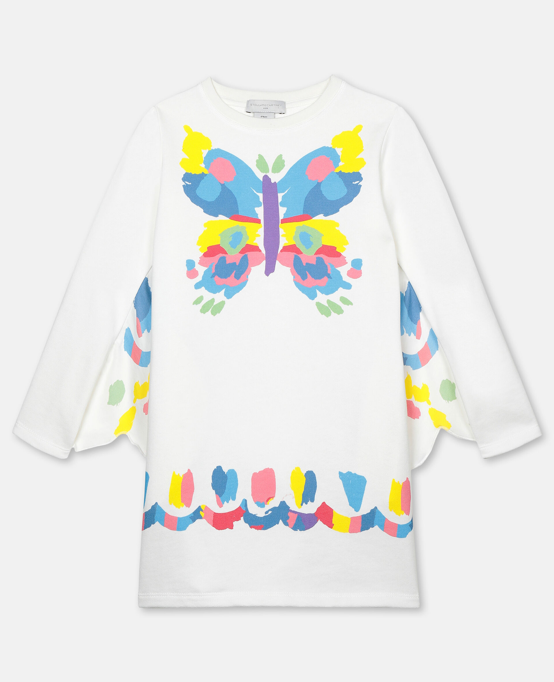 Butterfly Fleece Dress-White-large image number 0