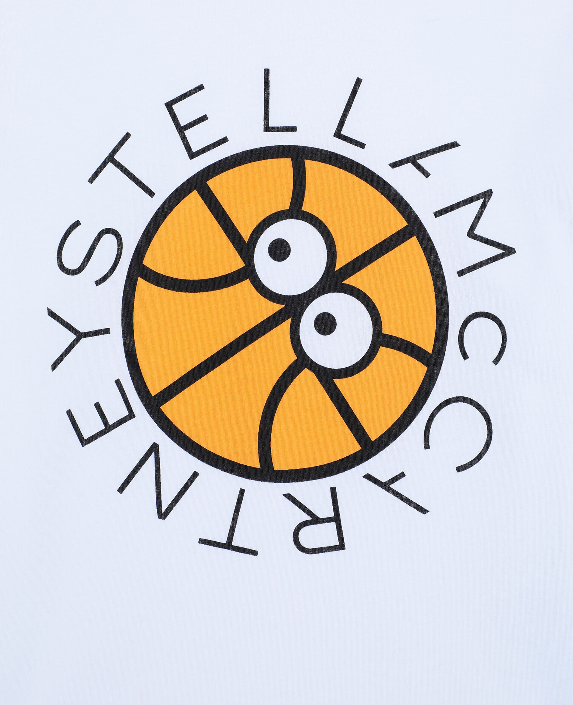 Logo Basketball 阔型棉质 T 恤 -白色-large image number 1