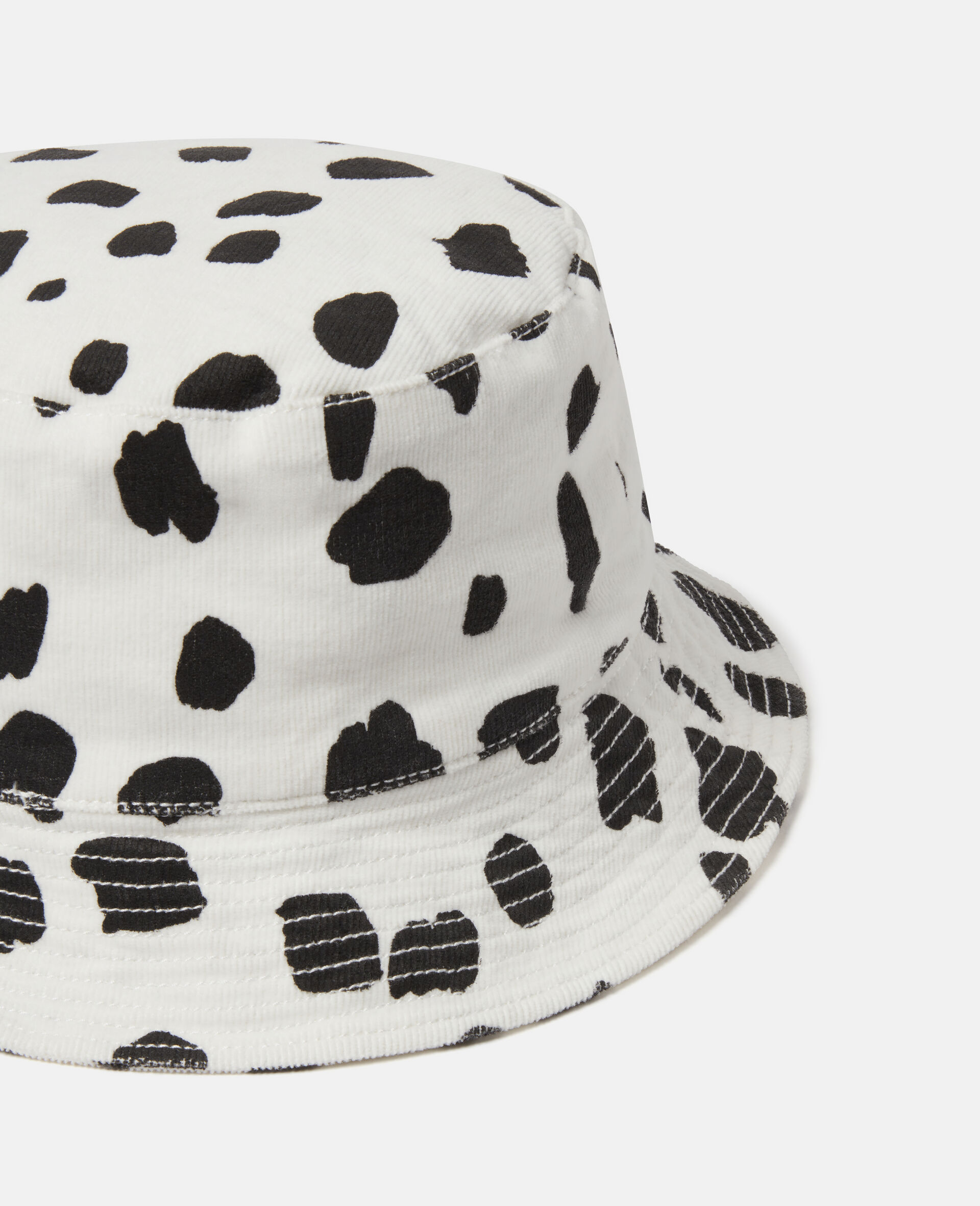 Dalmatian Spots Corduroy Hat-White-large image number 2