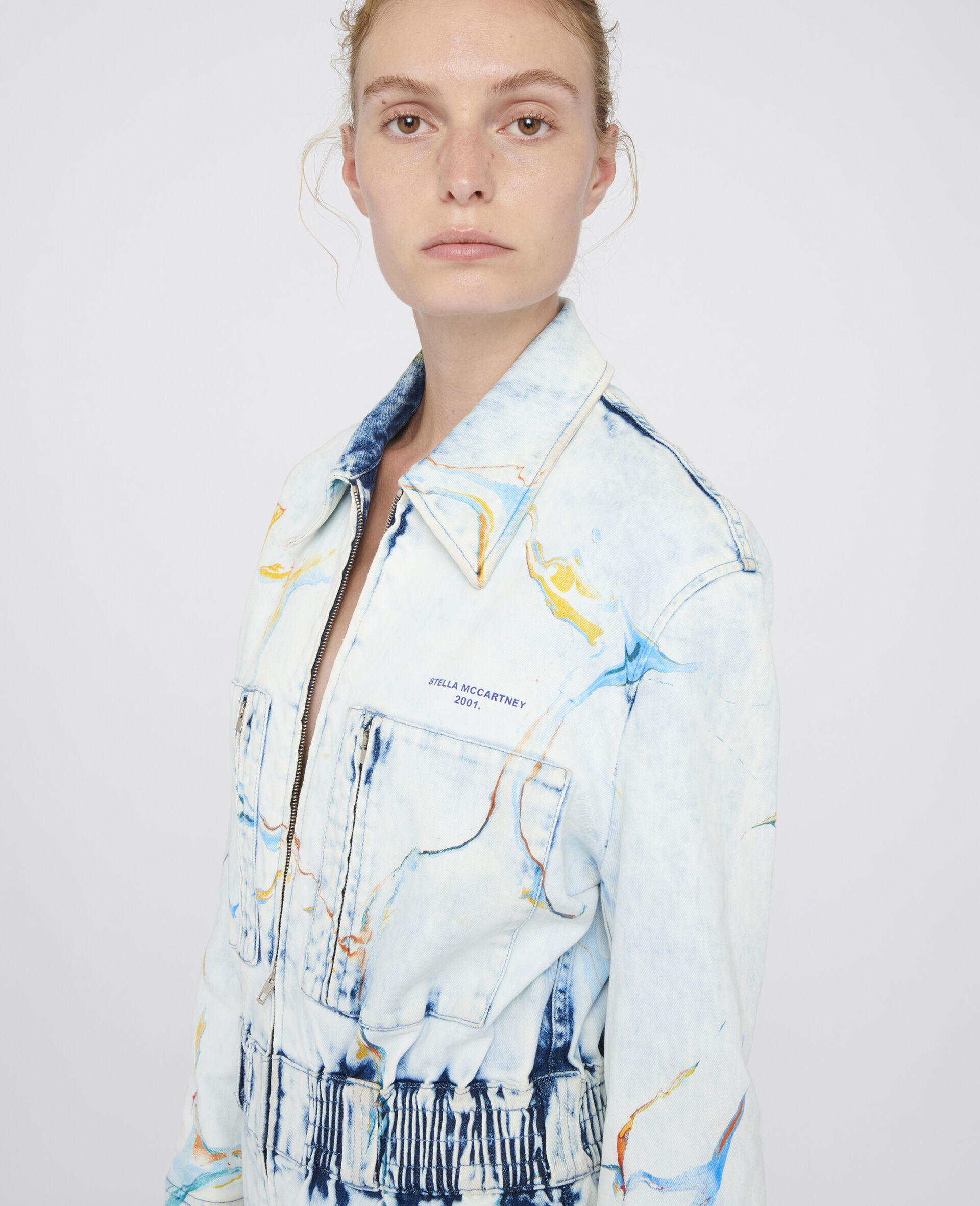 The Denim Jumpsuit -Multicoloured-large image number 3