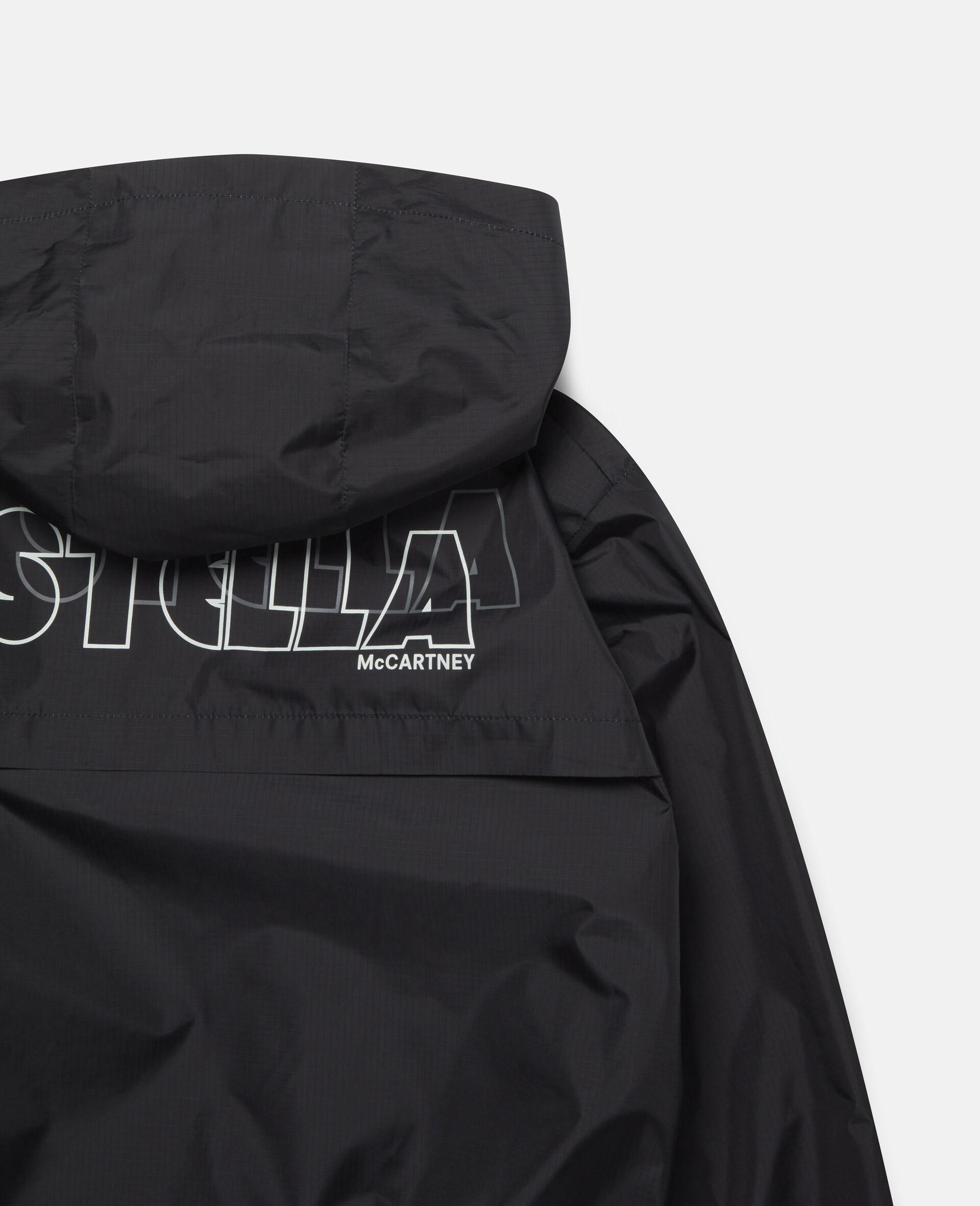 Active Hooded Jacket-Black-large image number 2