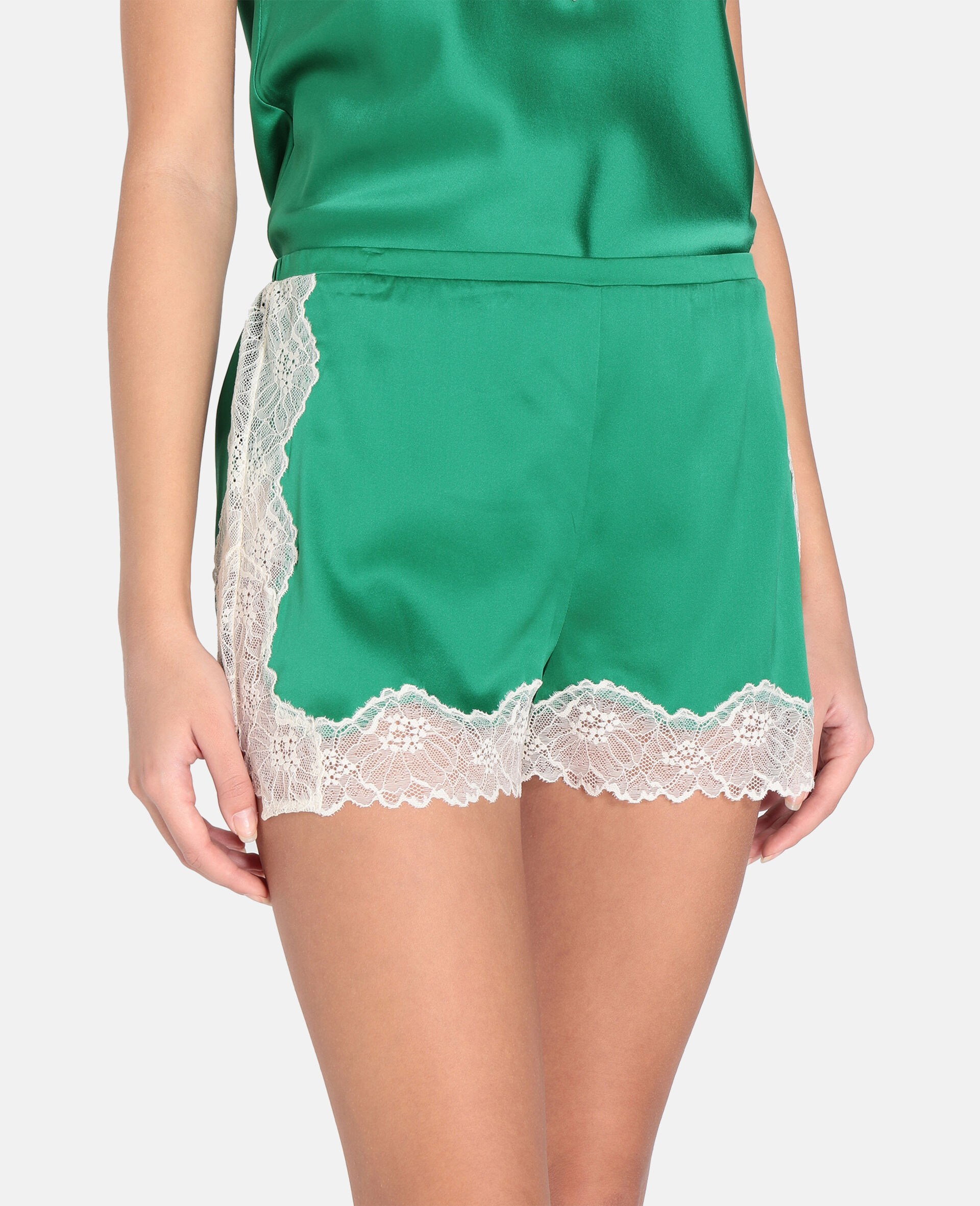 Kitty Catching Shorts-Green-large image number 3