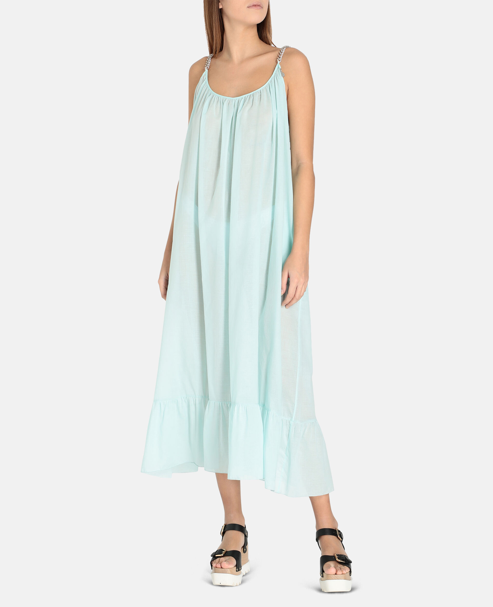 Iconic Chain Long Dress-Mint-large image number 1