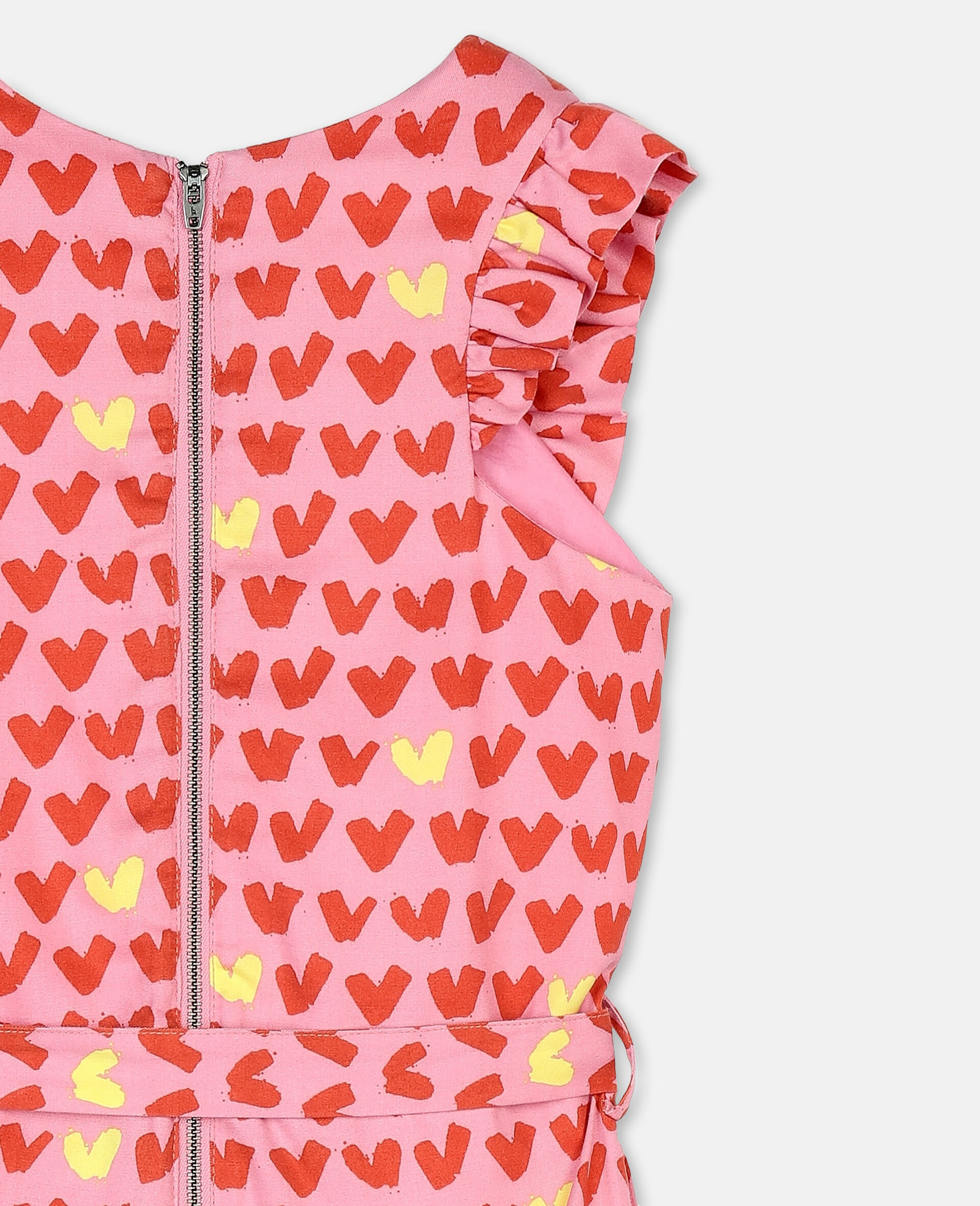 Hearts Tencel Twill Jumpsuit-Pink-large image number 2