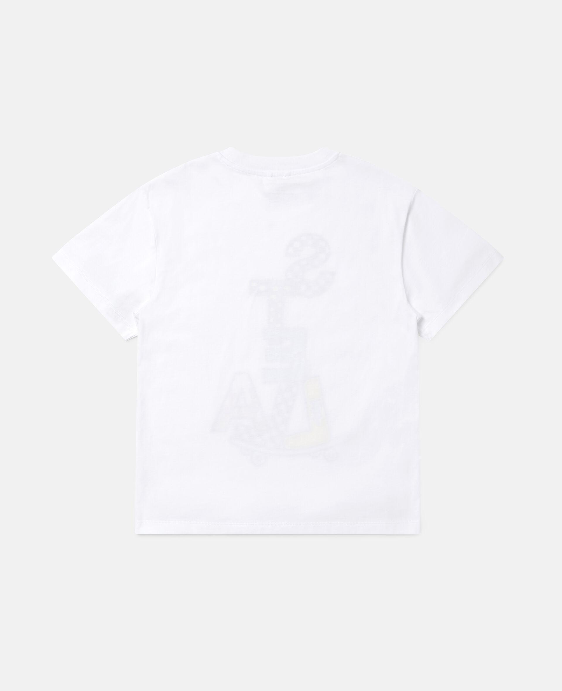 Stella滑板印花超大号棉质T恤 -白色-large image number 3