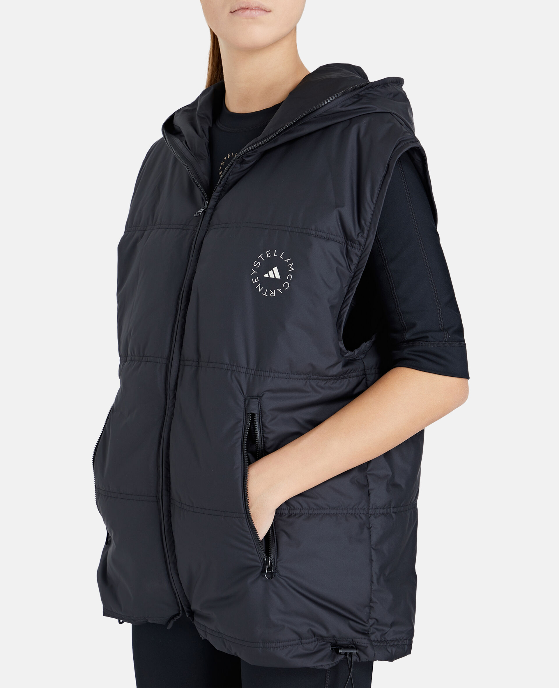 2-in-1 Mid-Length Padded Jacket-Black-large image number 3