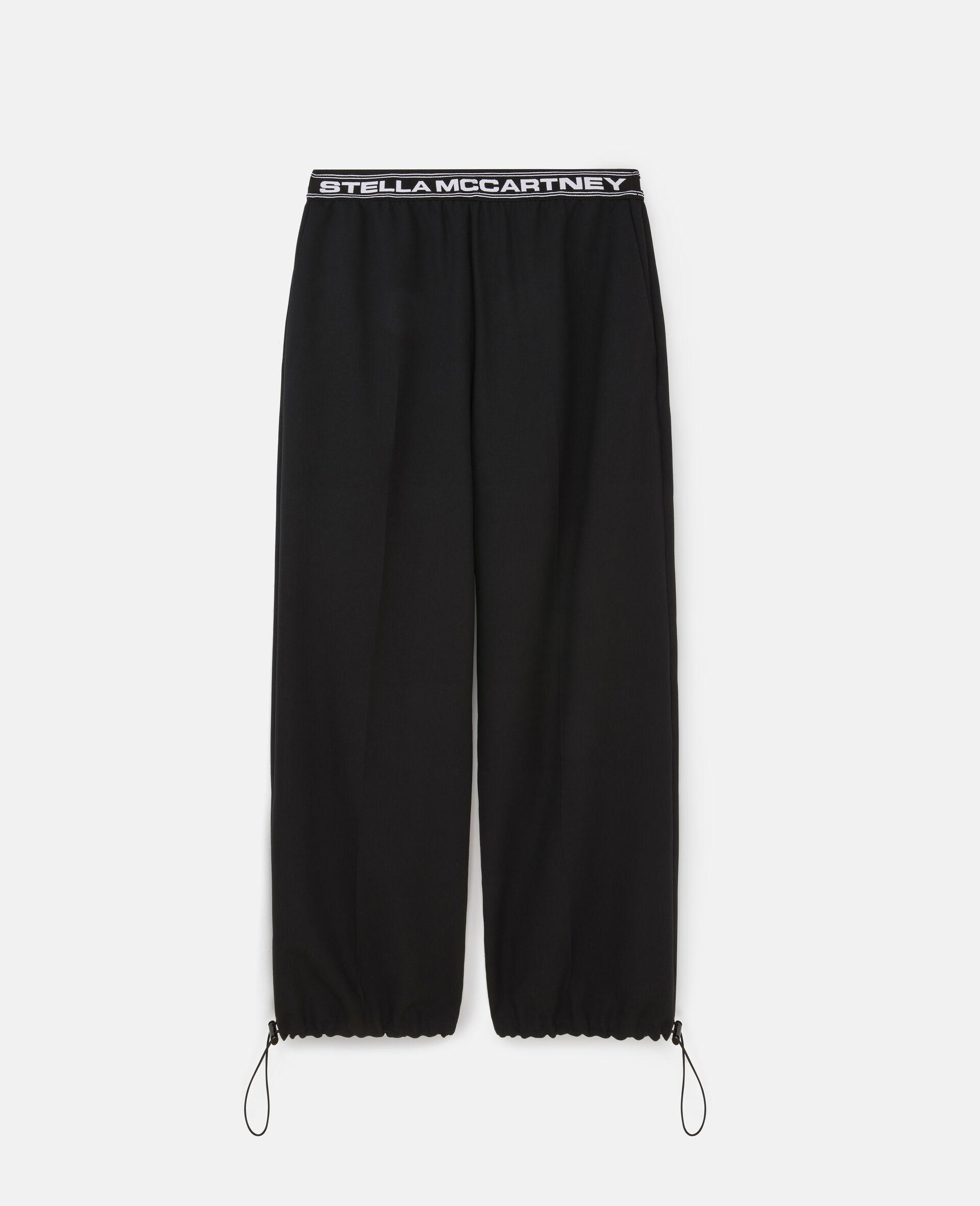 Pantaloni Sartoriali con Logo Stella -Nero-large image number 0