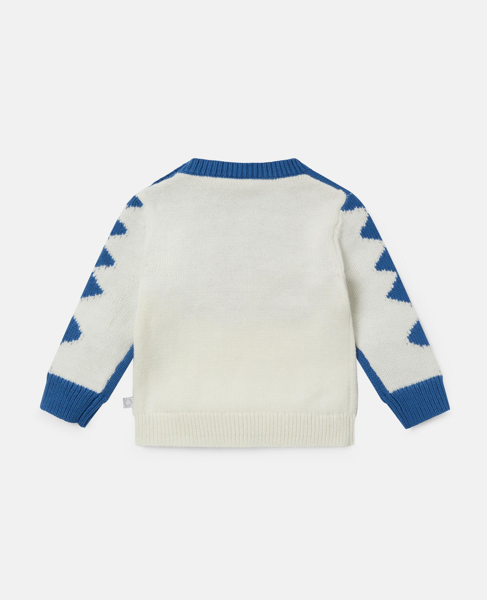 Doodle Dog Knit Intarsia Sweater-White-large image number 3
