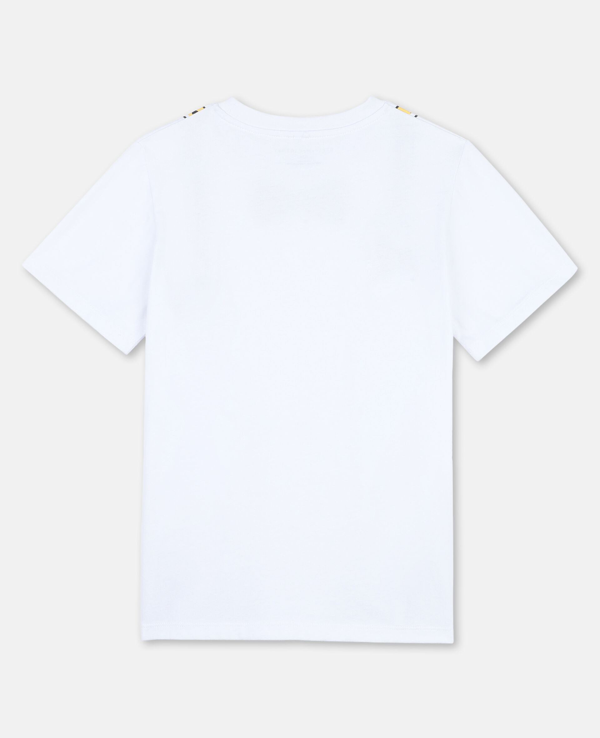 Suspenders Cotton T-shirt -White-large image number 3