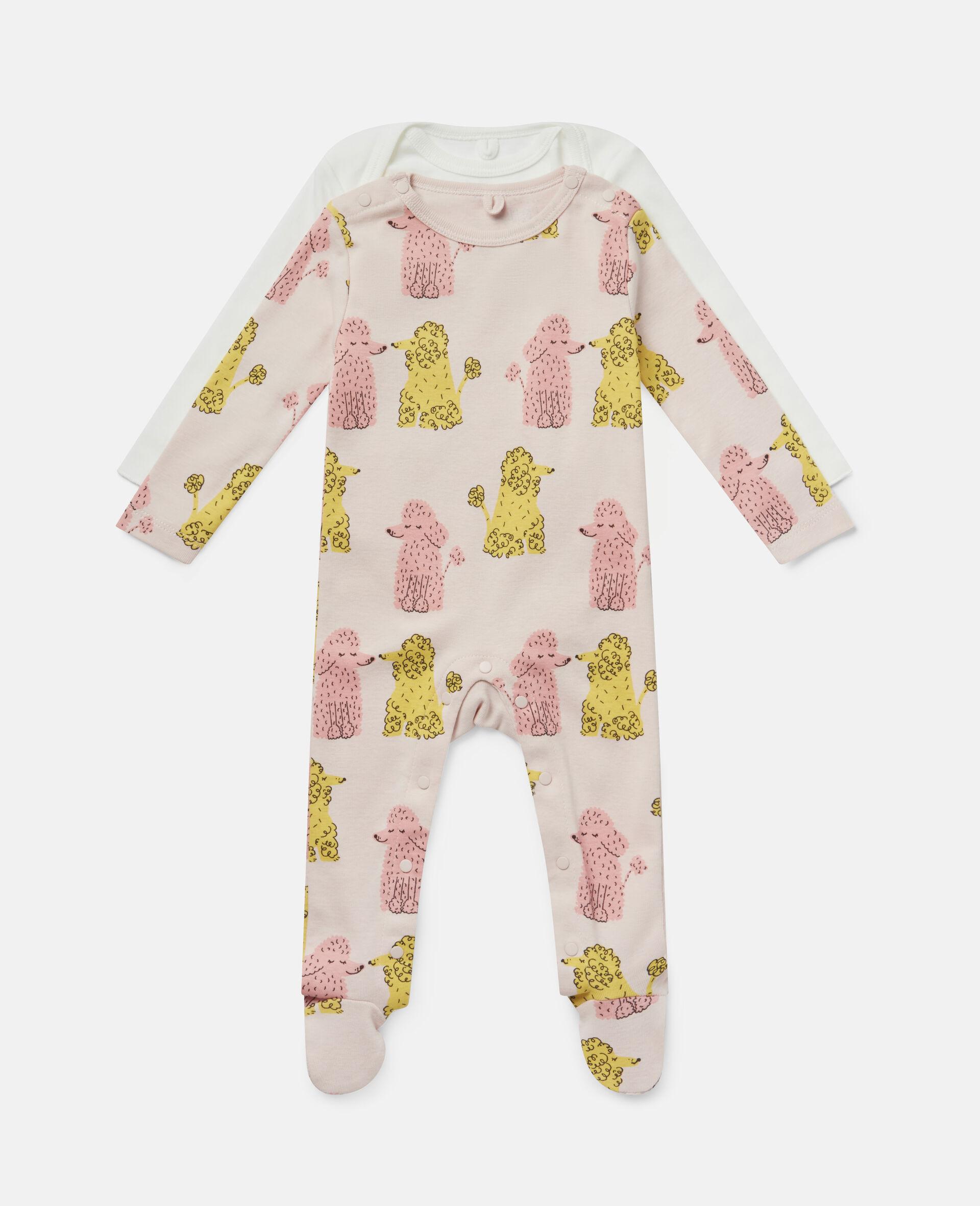 Doodle Poodles Rib Babygrow & Body-Multicolour-large image number 0