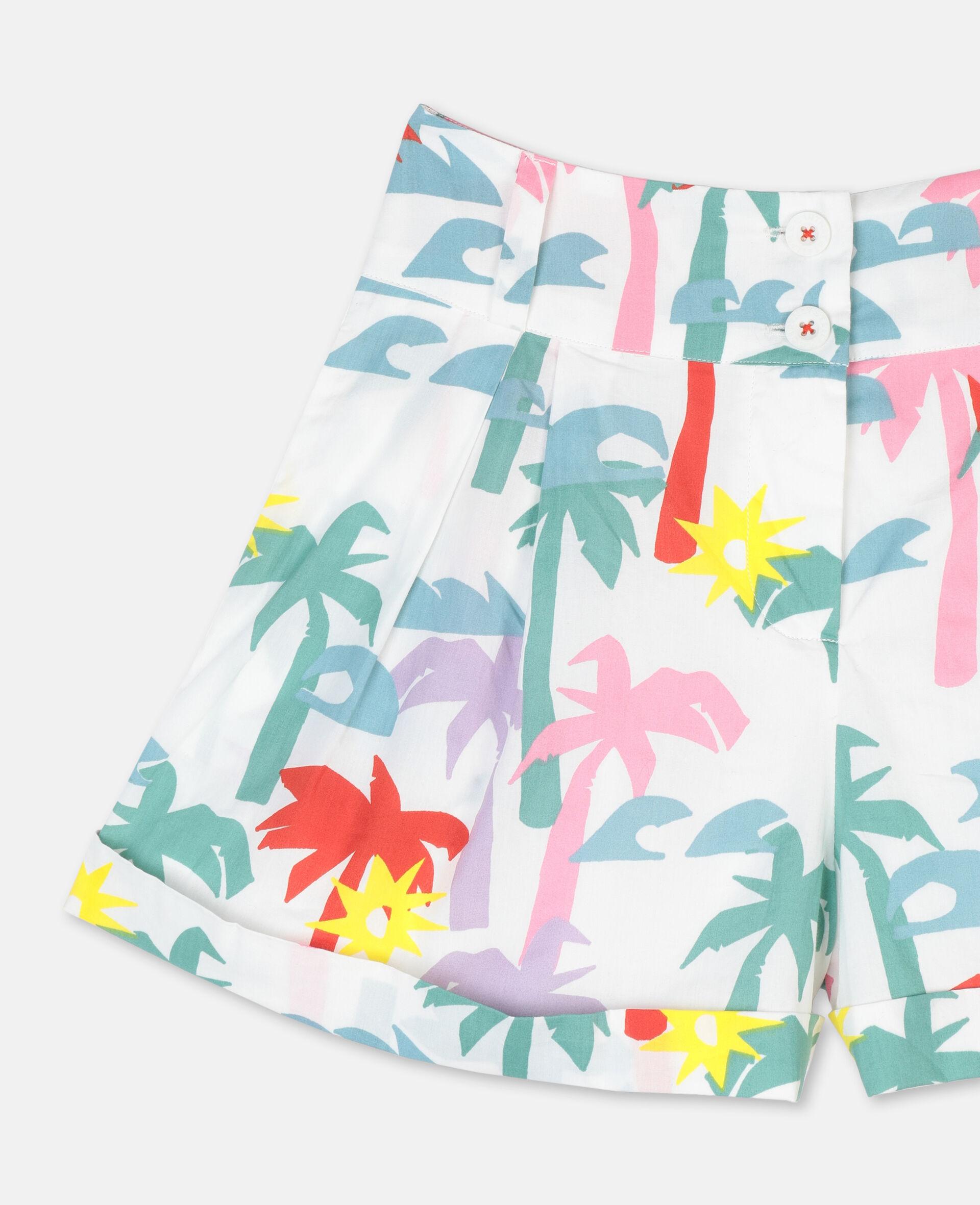 Palm Cotton Shorts-Multicolour-large image number 1