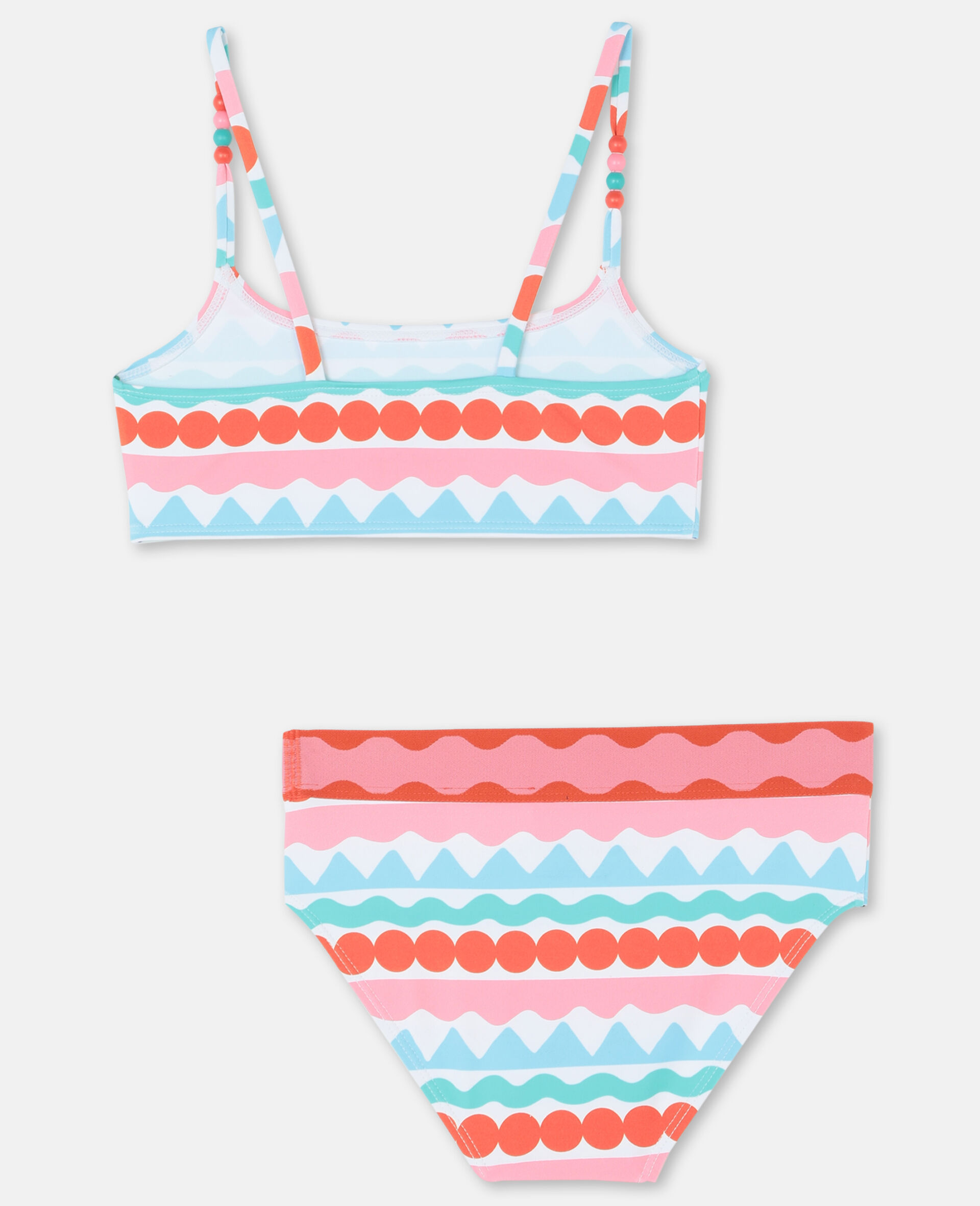 Graphic Stripes Bikini -Multicoloured-large image number 4