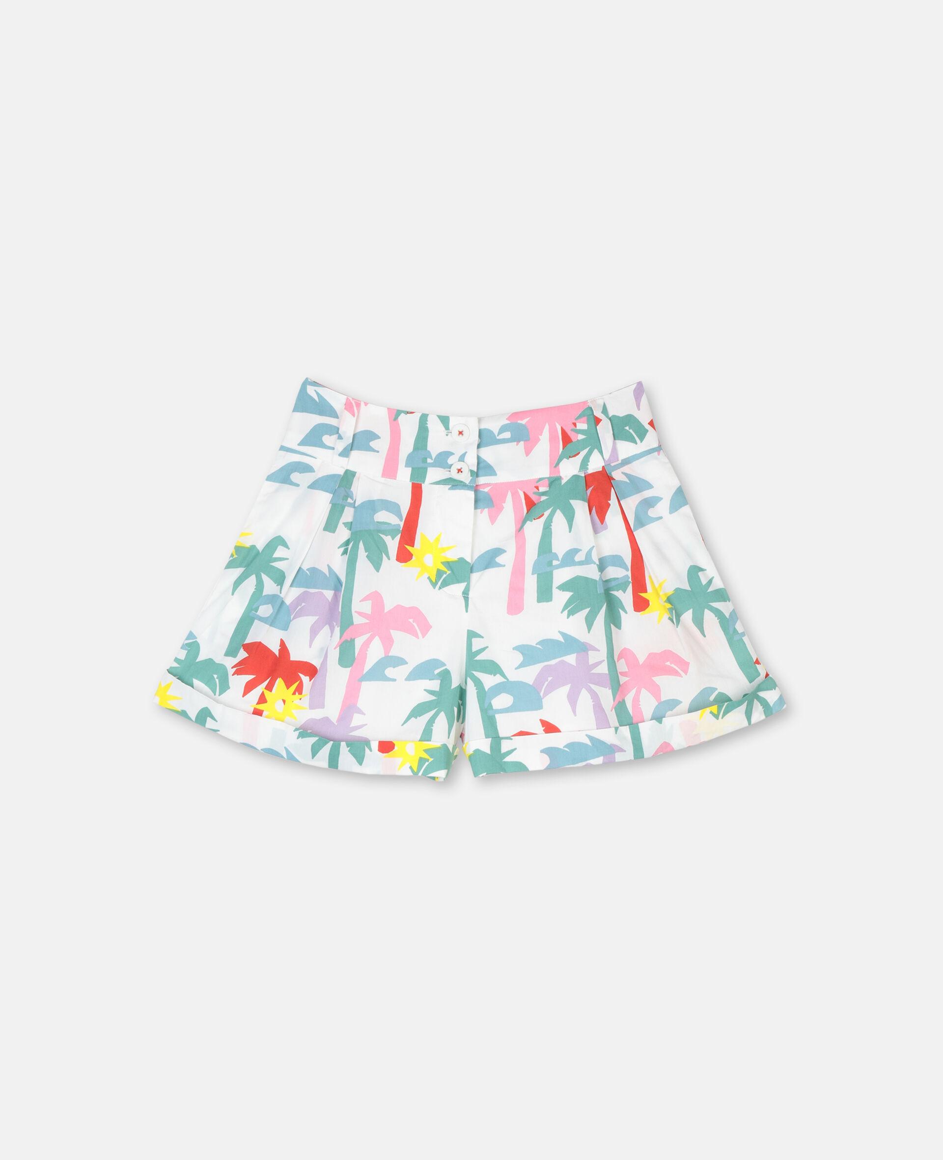 Palm Cotton Shorts-Multicolour-large image number 0