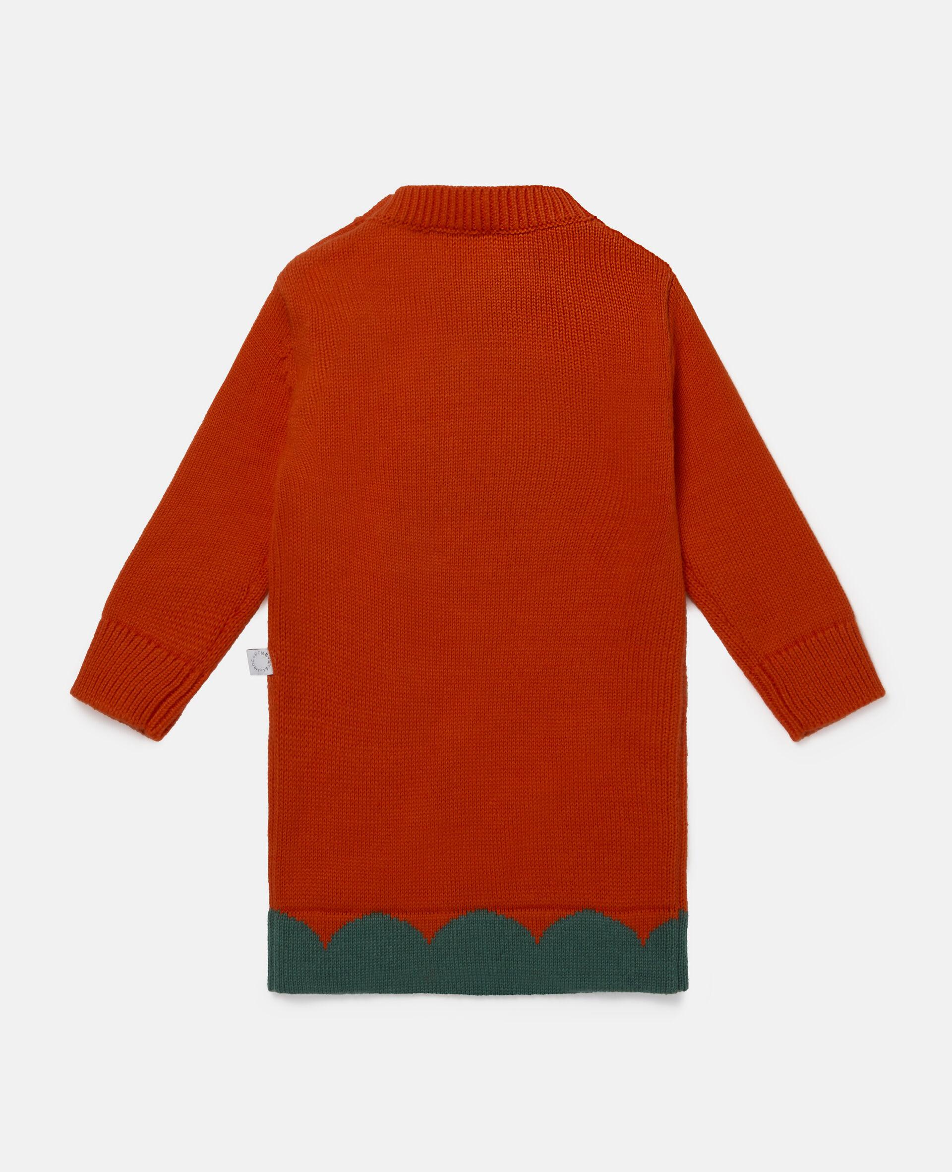 Denim-Kleid mit Tulpen-Intarsien-Rot-large image number 3