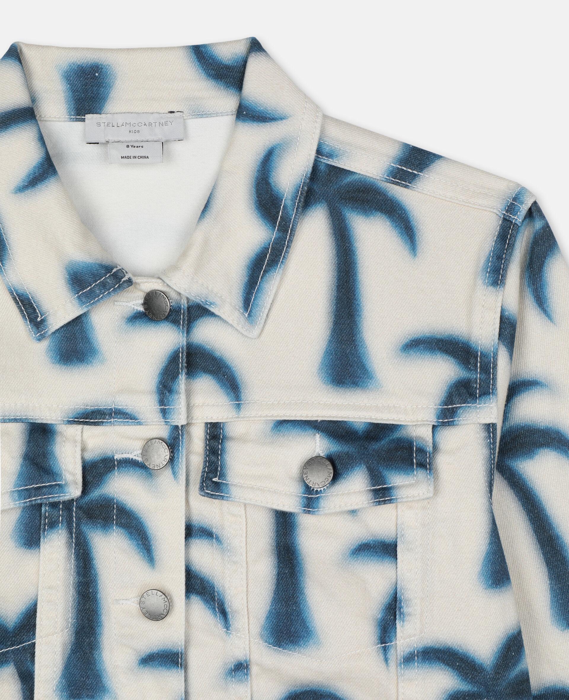 Denimjacke mit Palmen -Blau-large image number 1