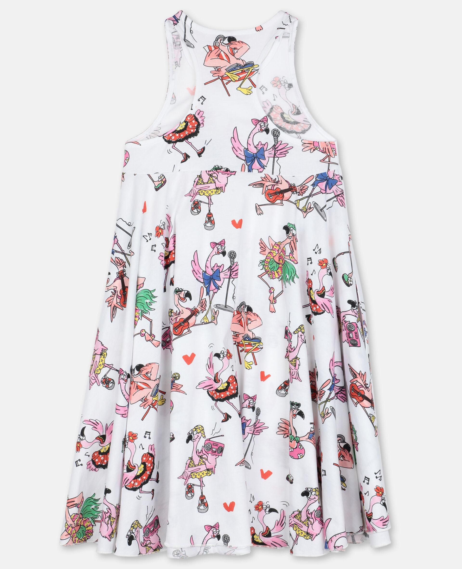 Flamingo Cotton Party Dress-Multicolour-large image number 3