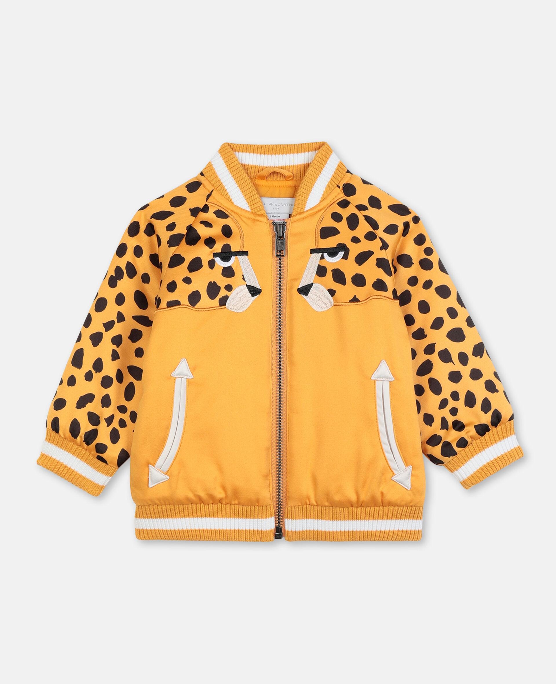 Cheetah 饰片缎面飞行员夹克   -橙色-large image number 0
