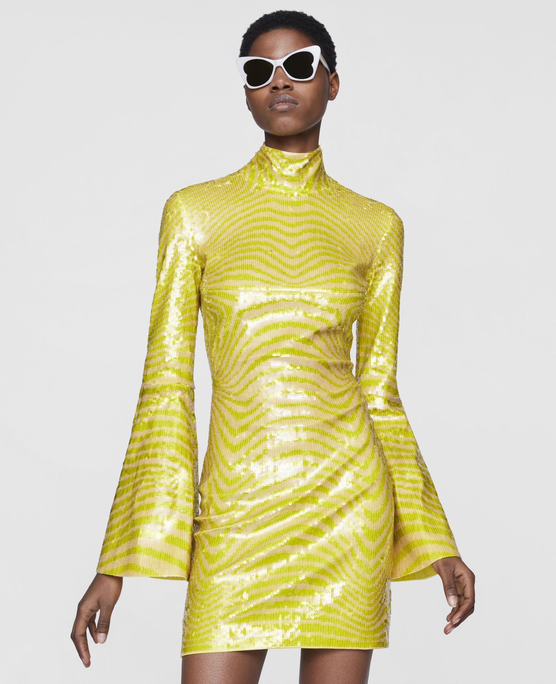 Milly Mini Dress-Yellow-large image number 3