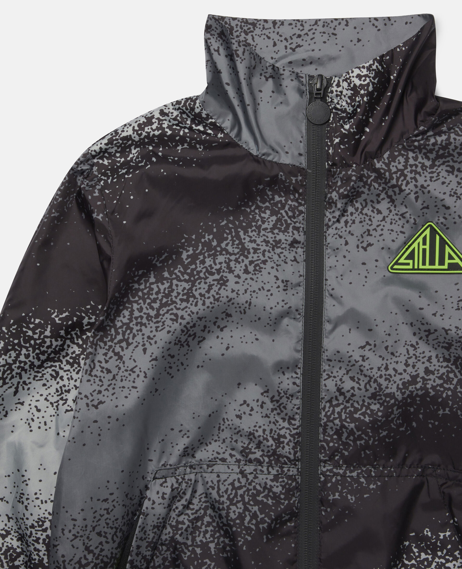 Spray Painted Effect Jacket-Grey-large image number 1