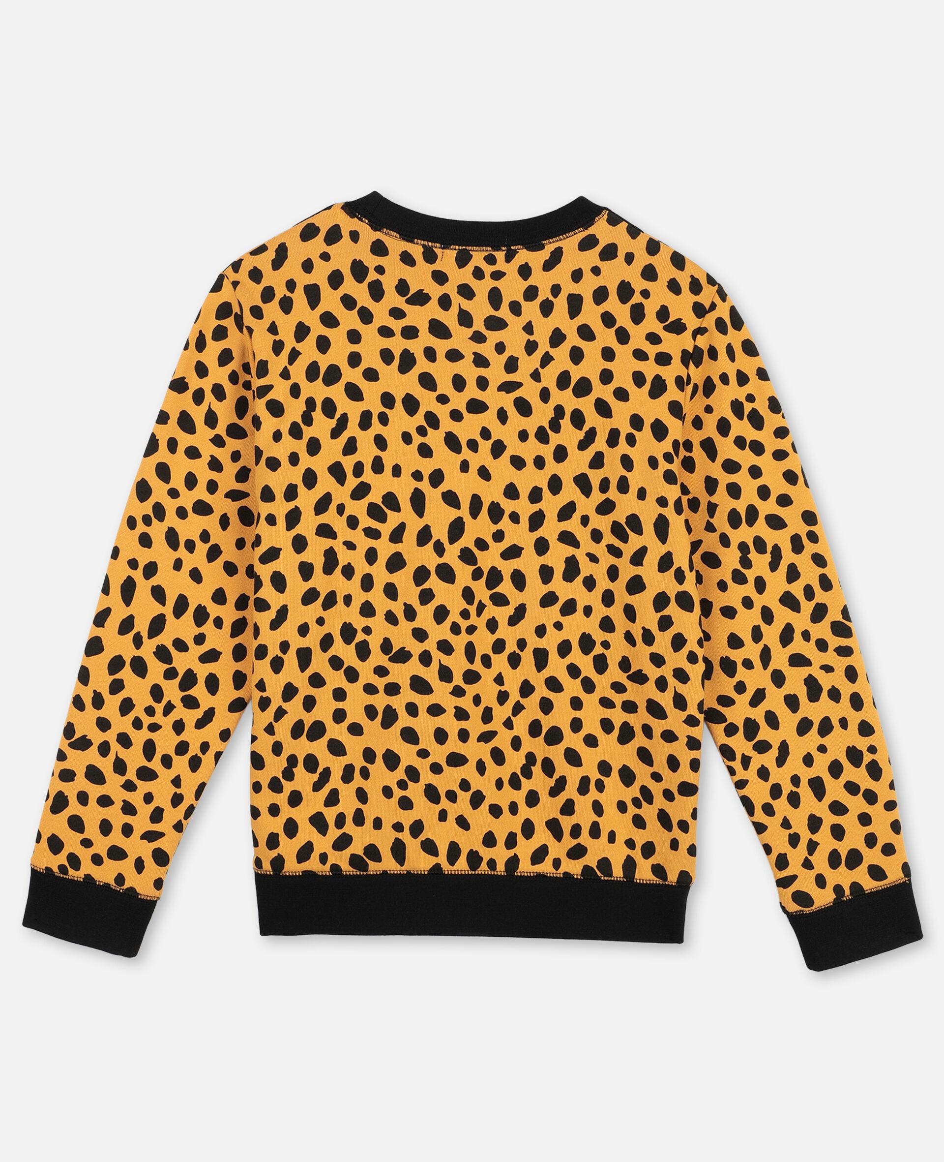 Cheetah Dots Cotton Fleece Sweatshirt -Multicoloured-large image number 3