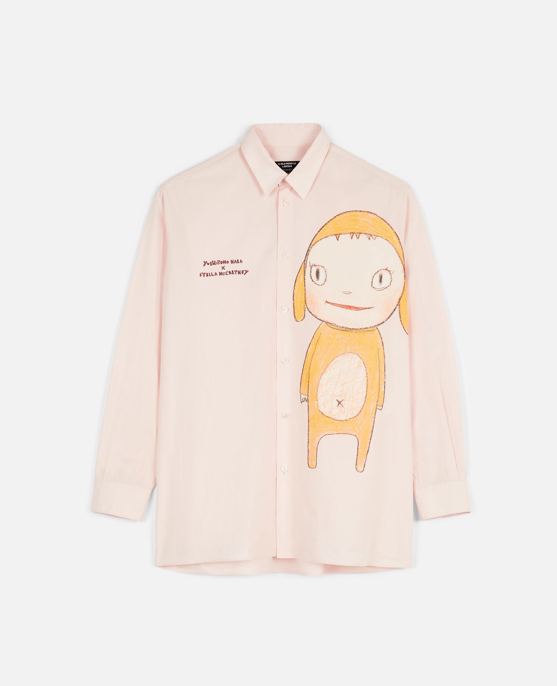 Camicia Nara in Cotone-Rosa-large image number 0