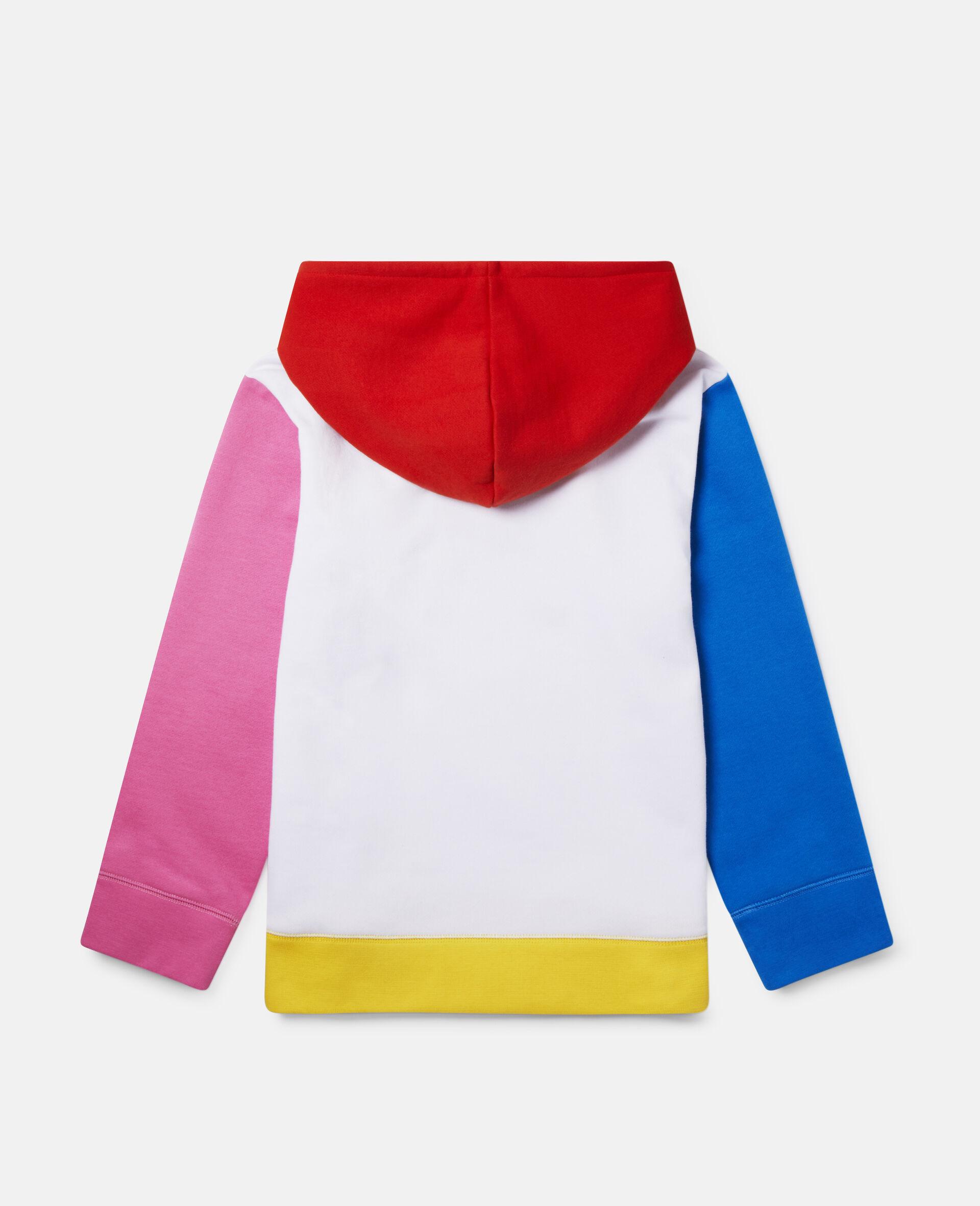 Fun Colour block Oversize Fleece Hoodie-Multicolour-large image number 3