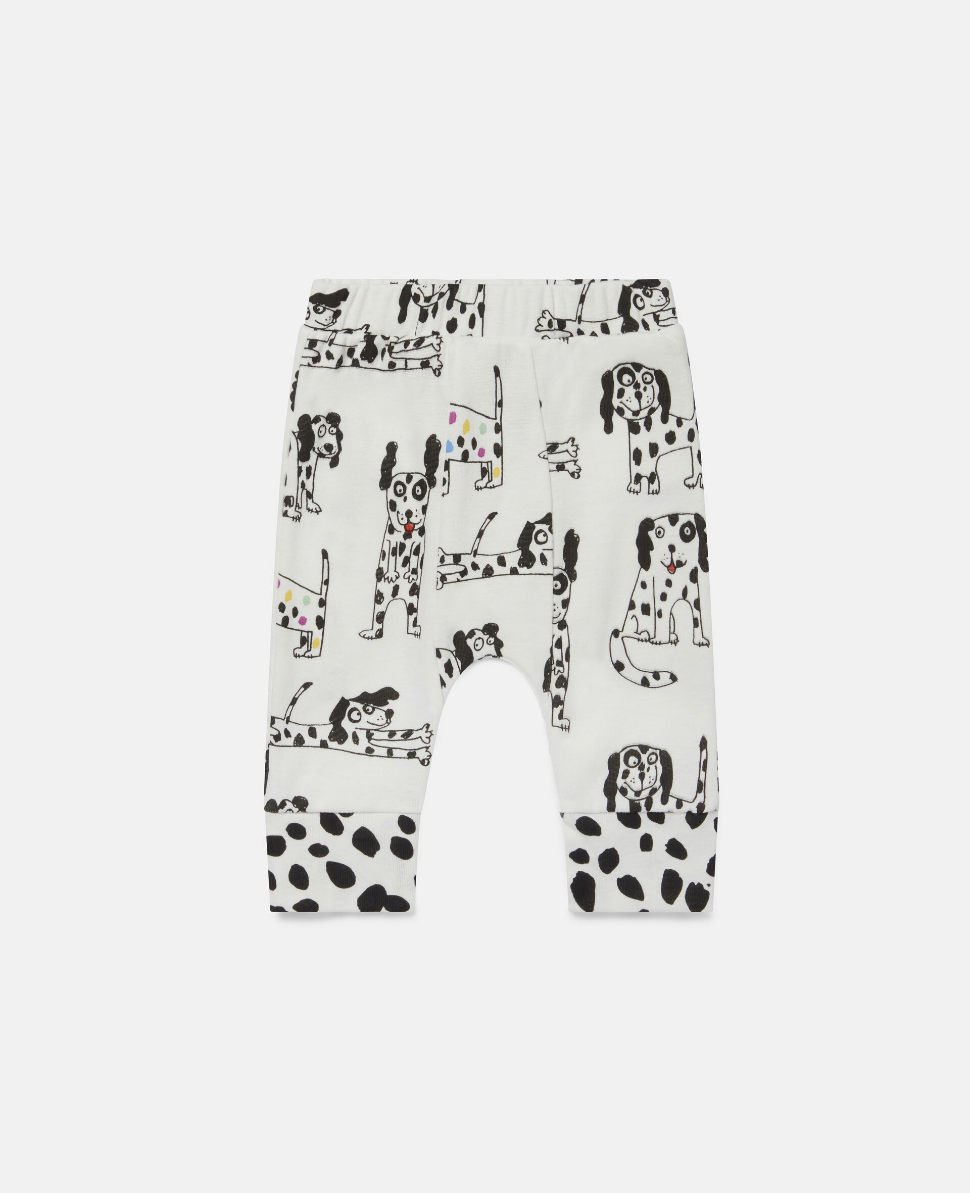 Leggings con Dalmata in Jersey a Coste-Bianco-large image number 0
