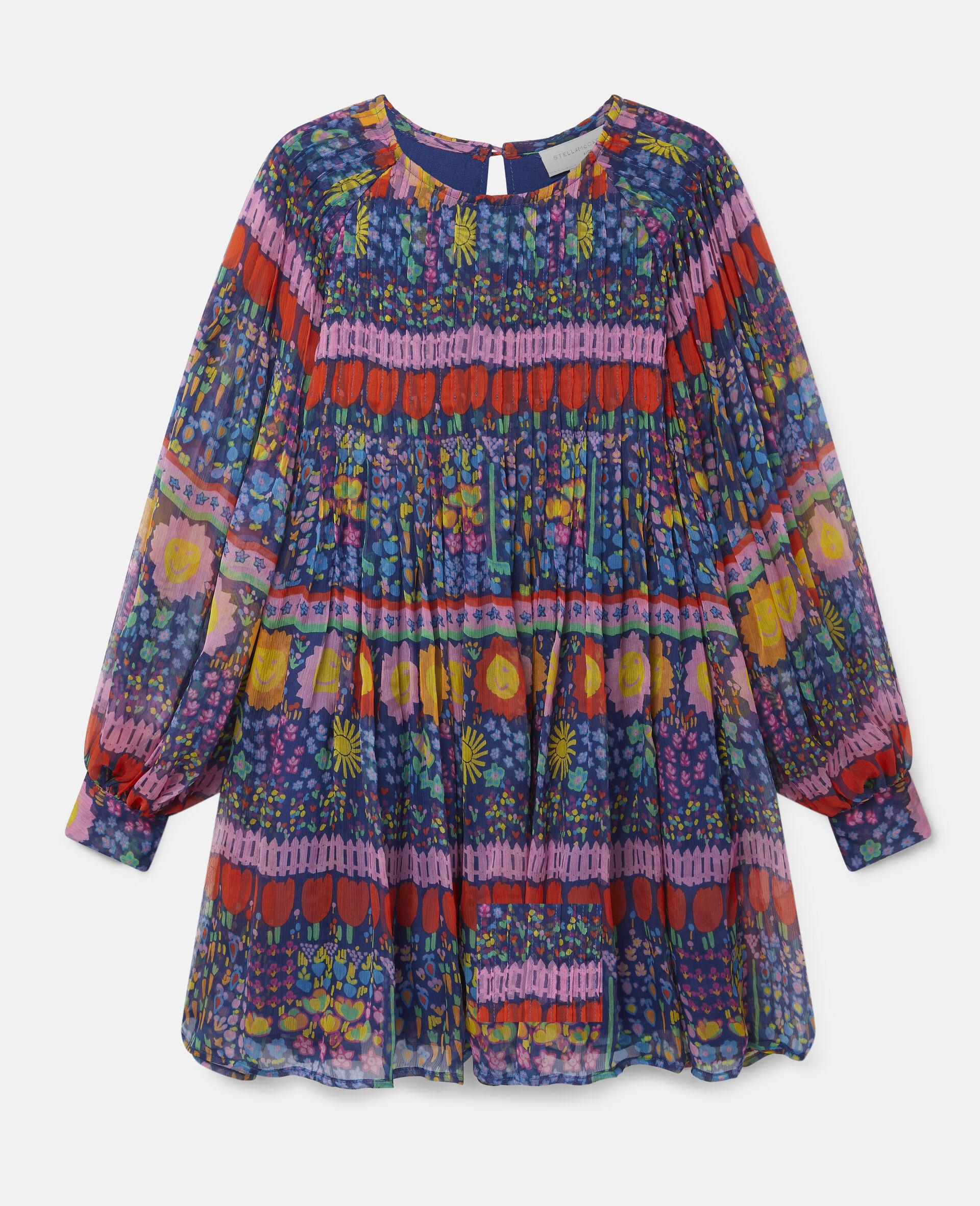 Georgette Silk Dress-Multicolour-large image number 0