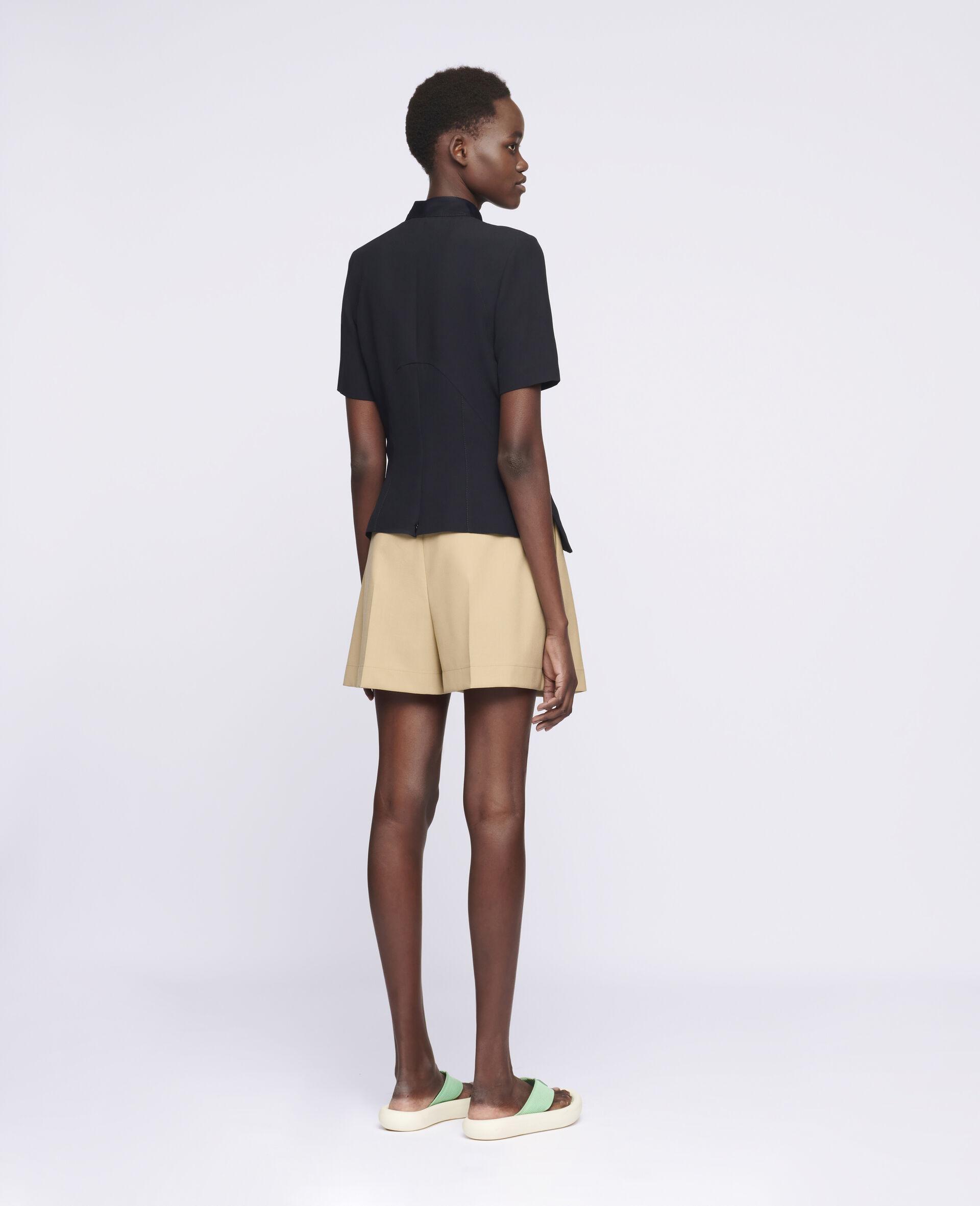 Ariel Wool Shorts -Beige-large image number 2