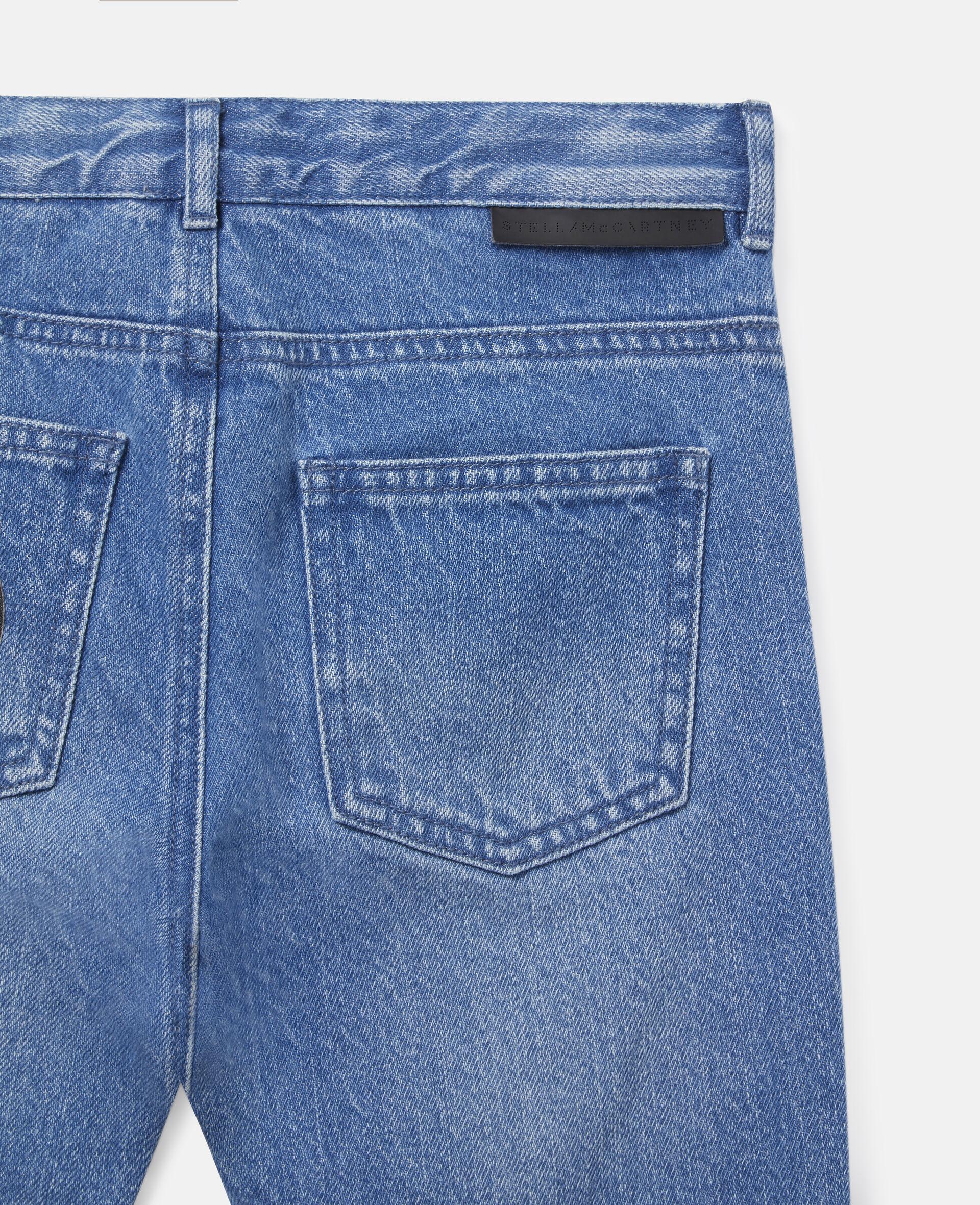 Doggies Badges Denim Trousers-Blue-large image number 1