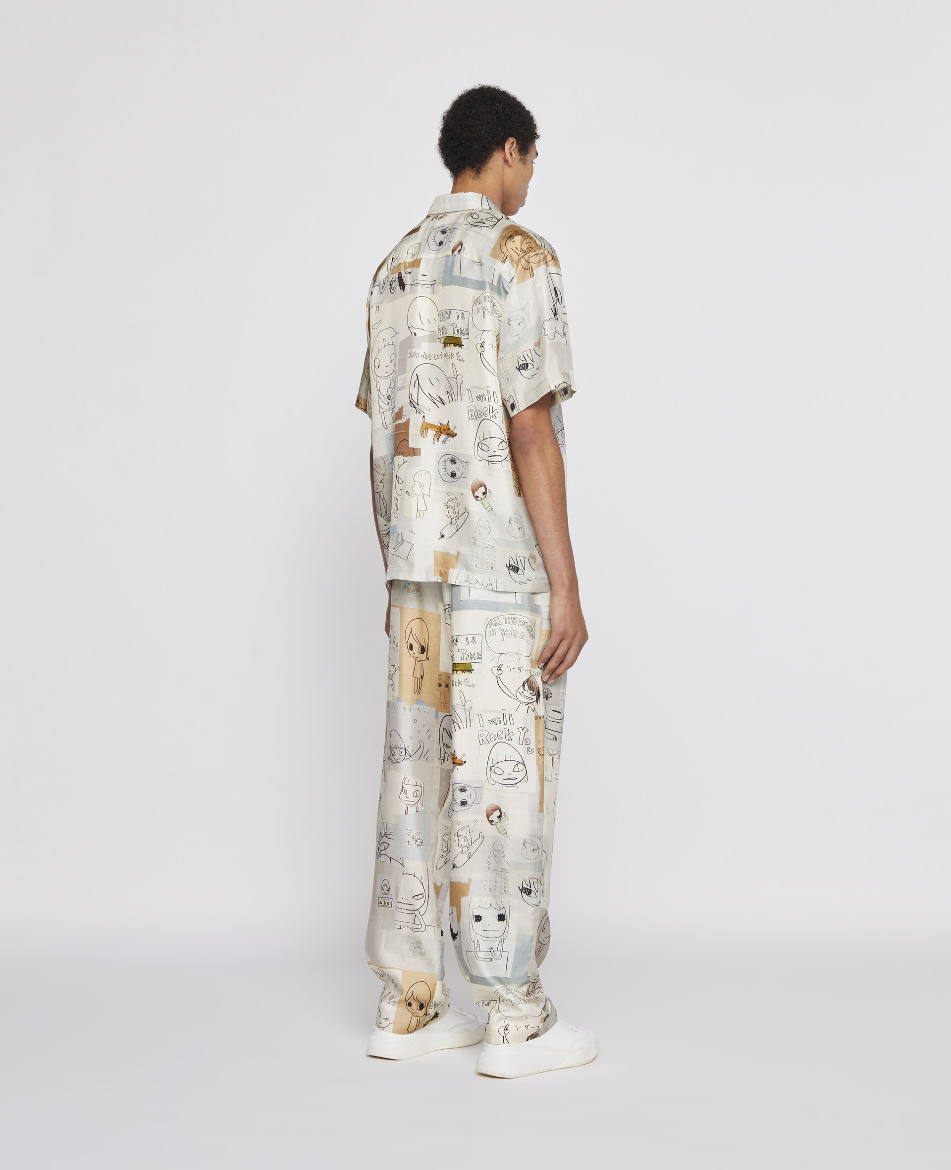 Nara Tye Silk Pants-Multicolour-large image number 2