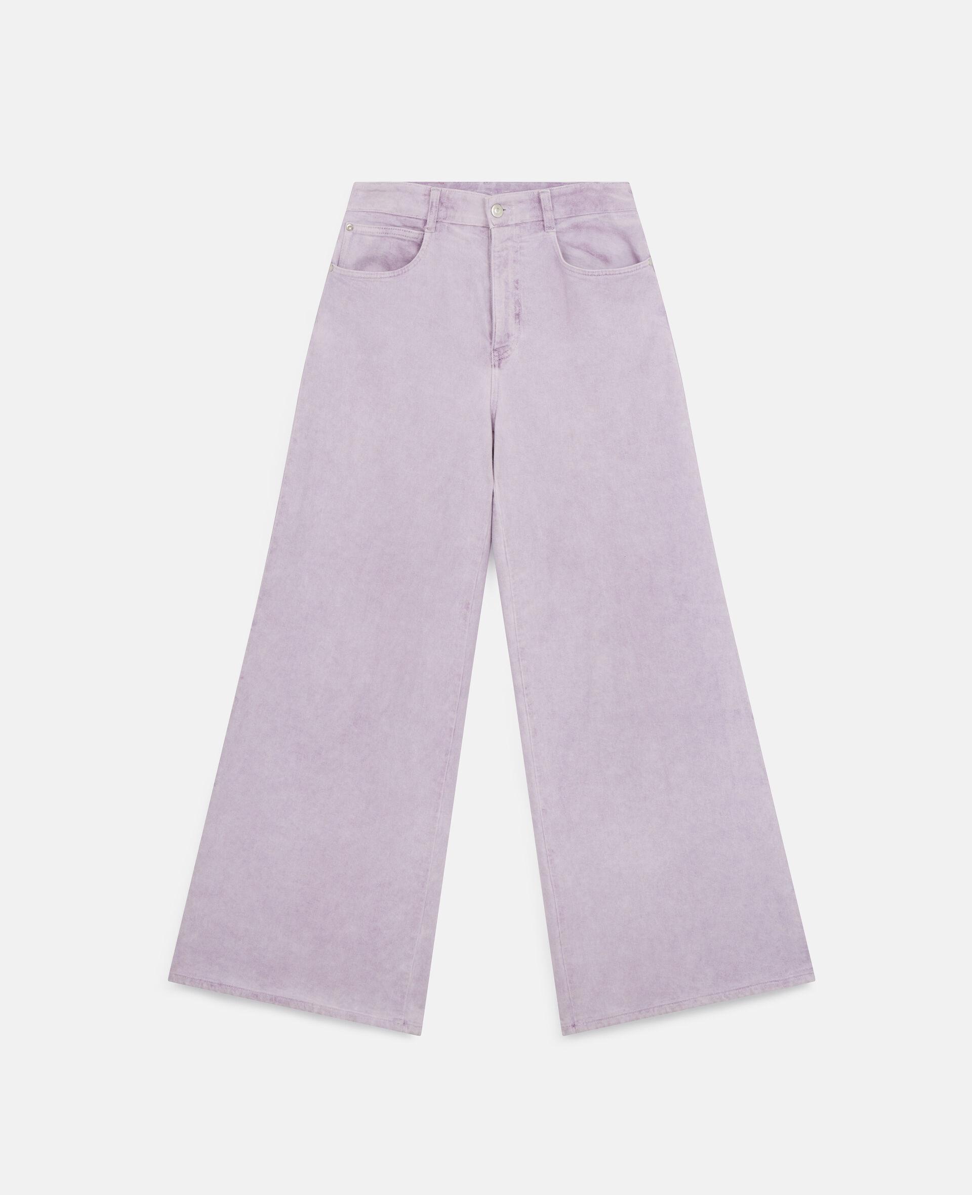 Pantalon en denim évasé-Purple-large image number 0