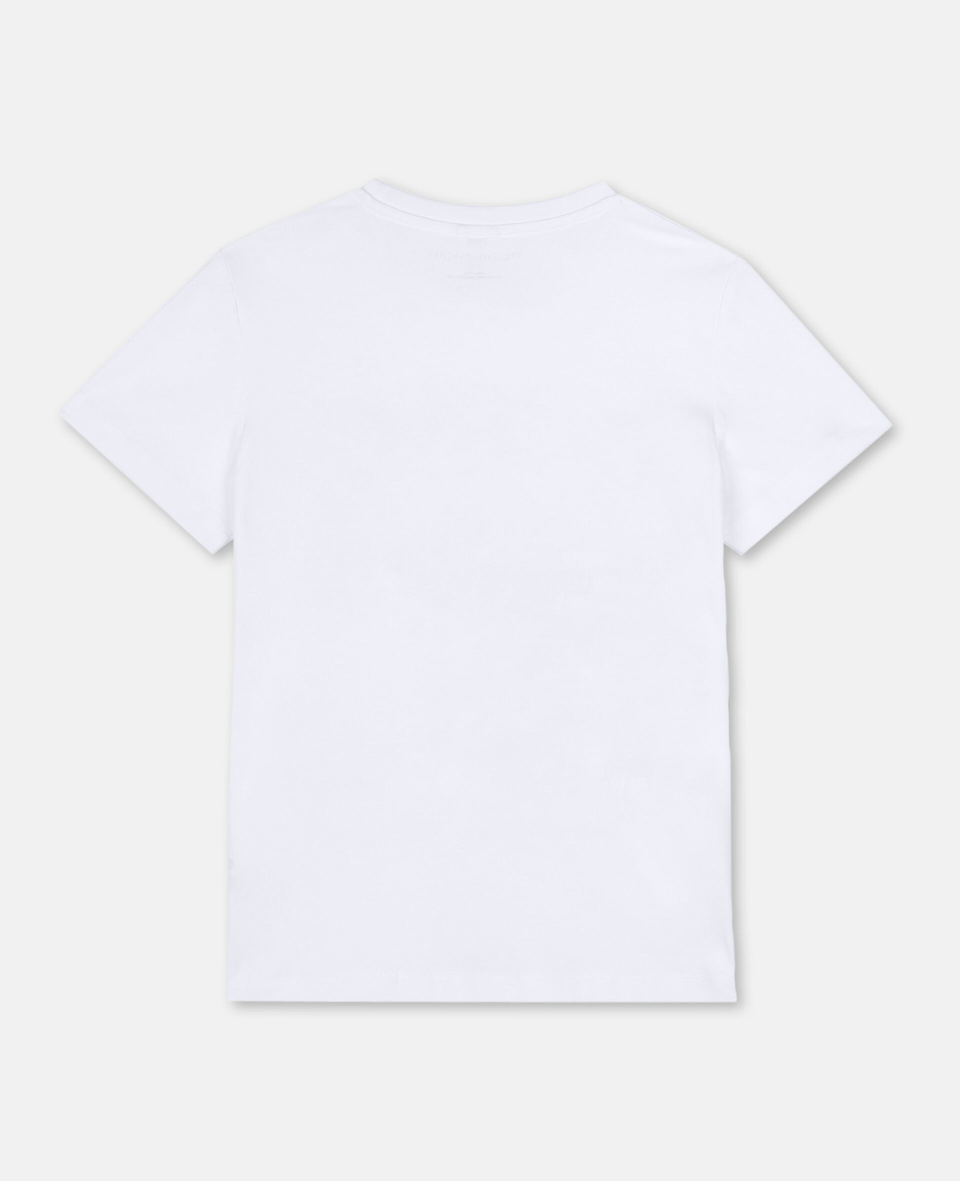 Trompe-L'Oeil Pirate Cotton T-shirt -White-large image number 3