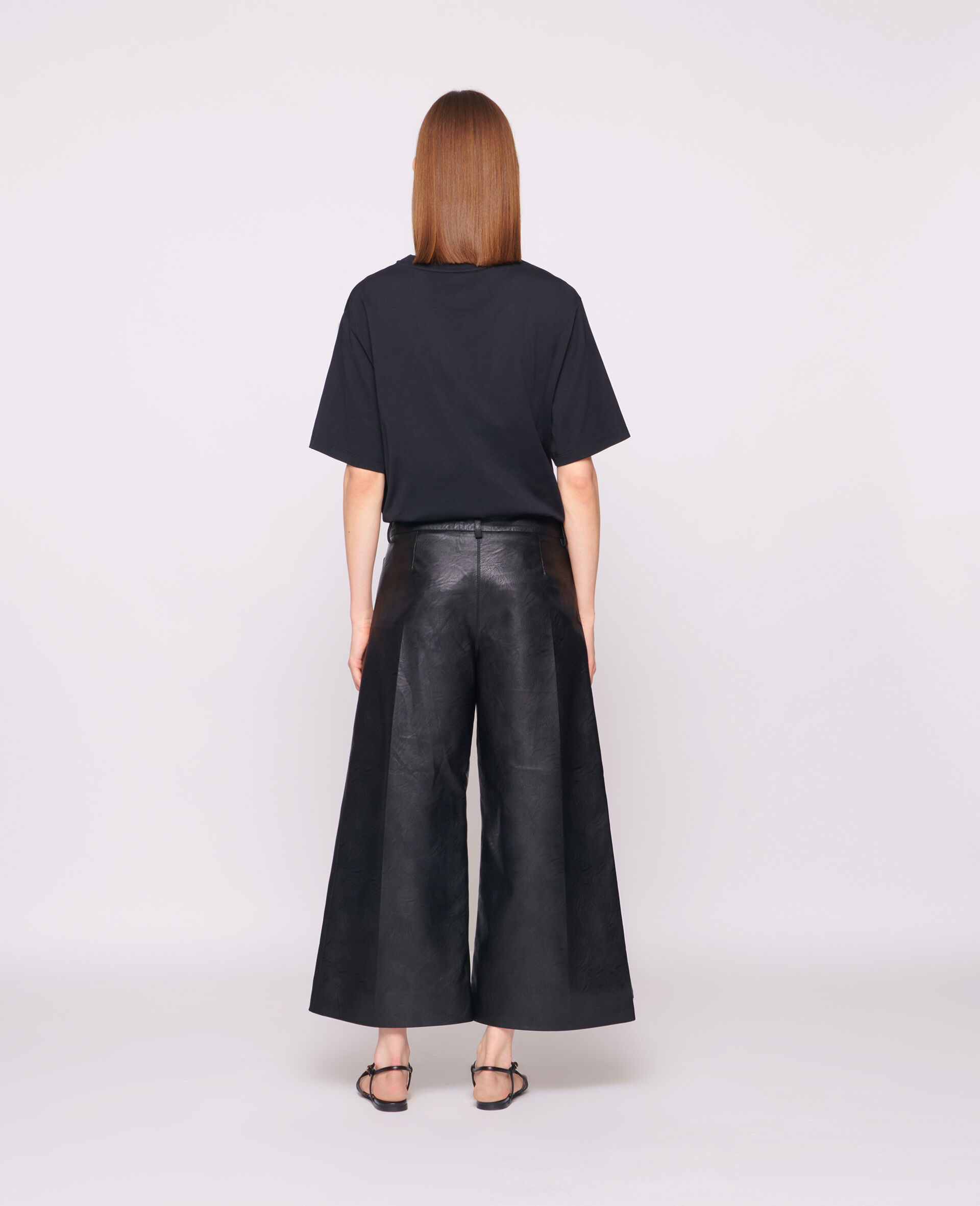T-shirt 23 OBS en coton biologique-Noir-large image number 2