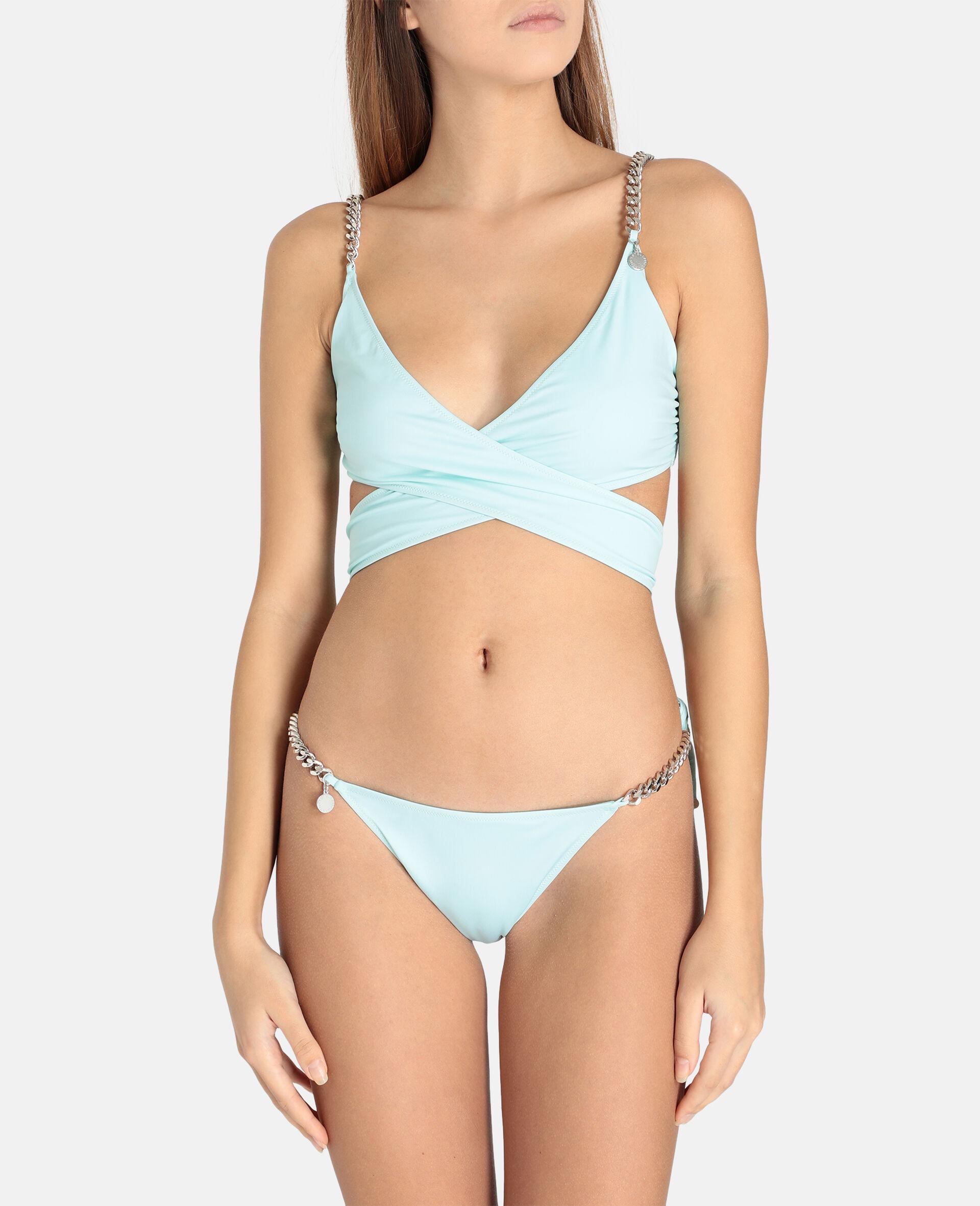 Bikini mit seitlicher Bindung und ikonischer Kette-Schwarz-large image number 1