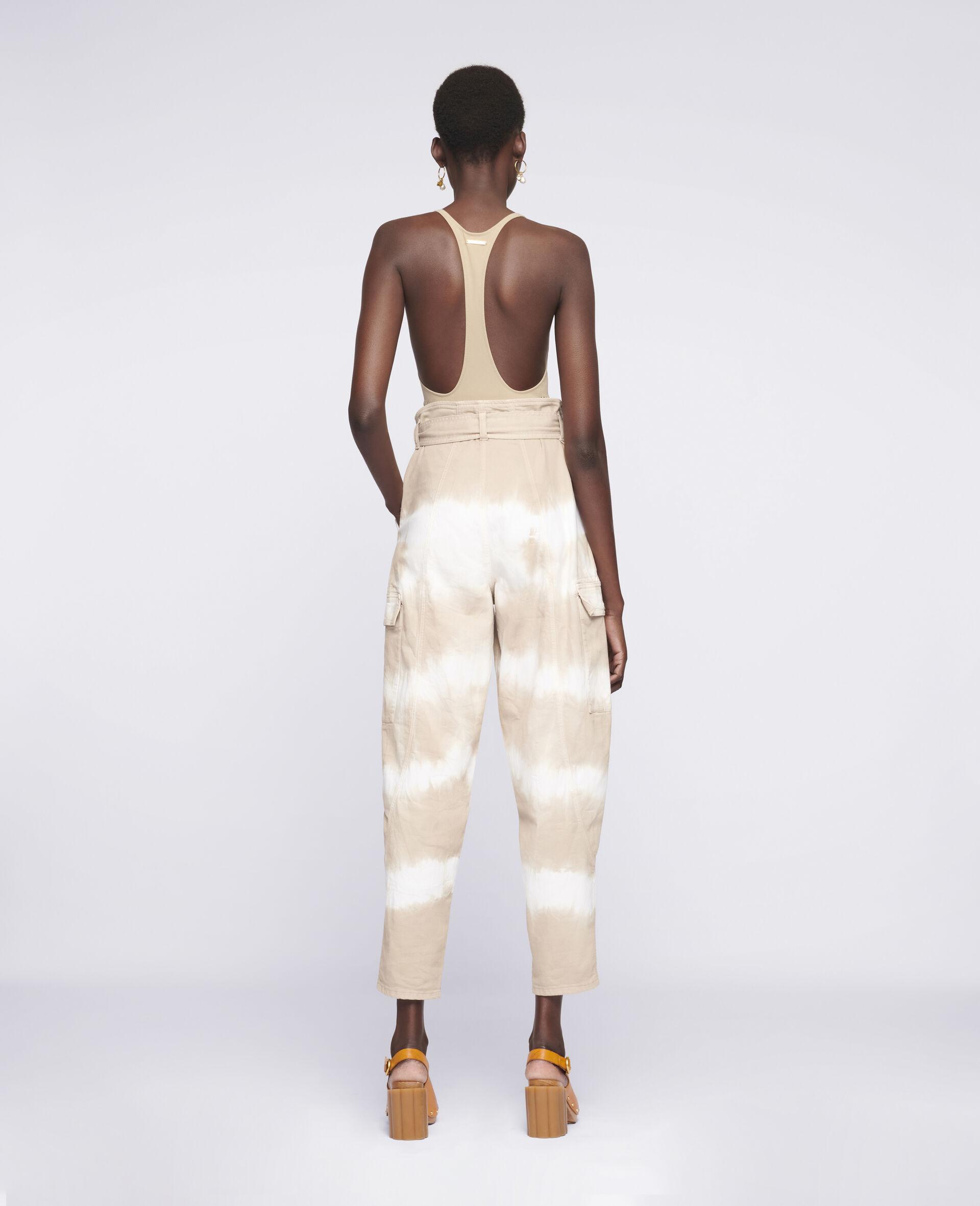 Tie-Dye Denim Trousers-Beige-large image number 2