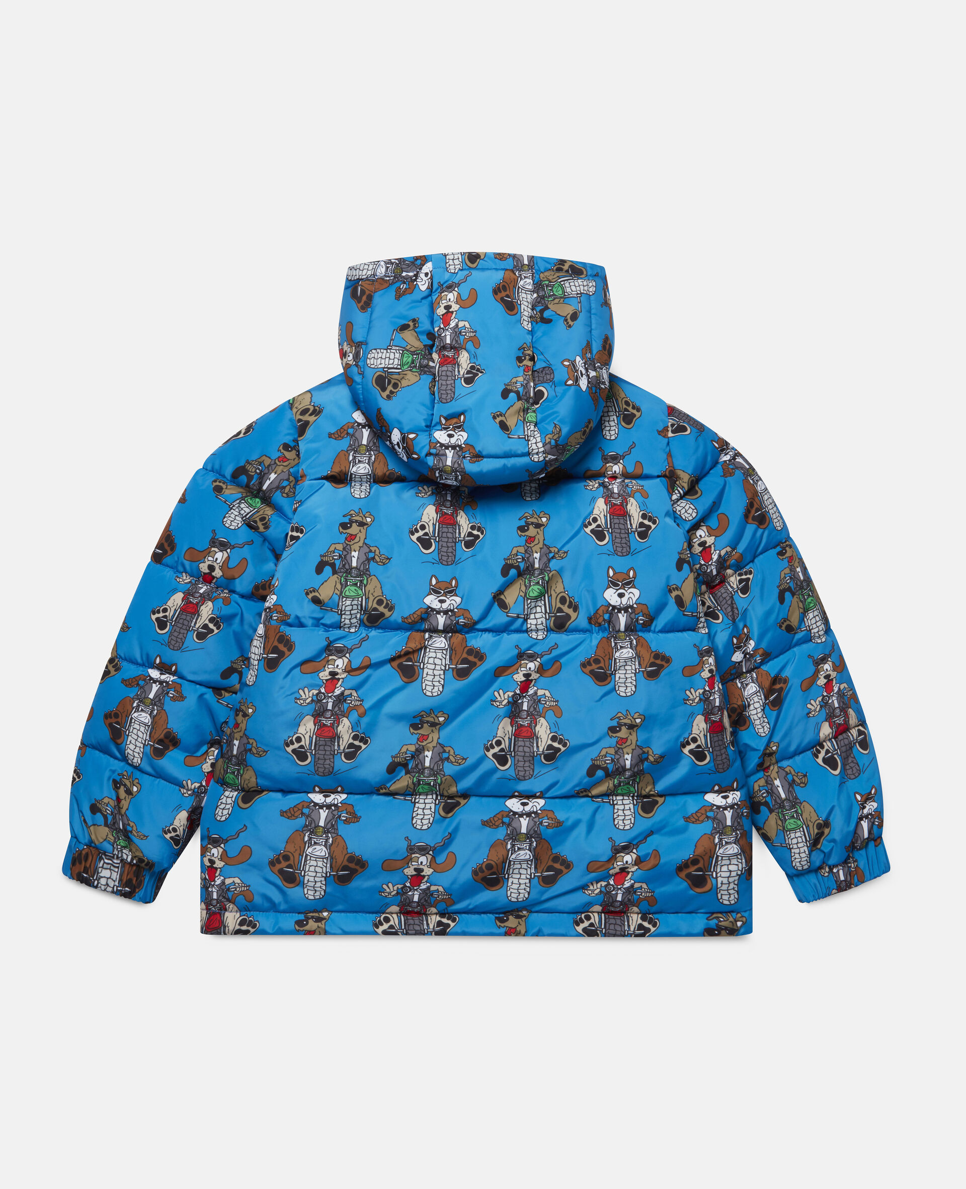 Doggies Riders Puffer Jacket-Blue-large image number 3