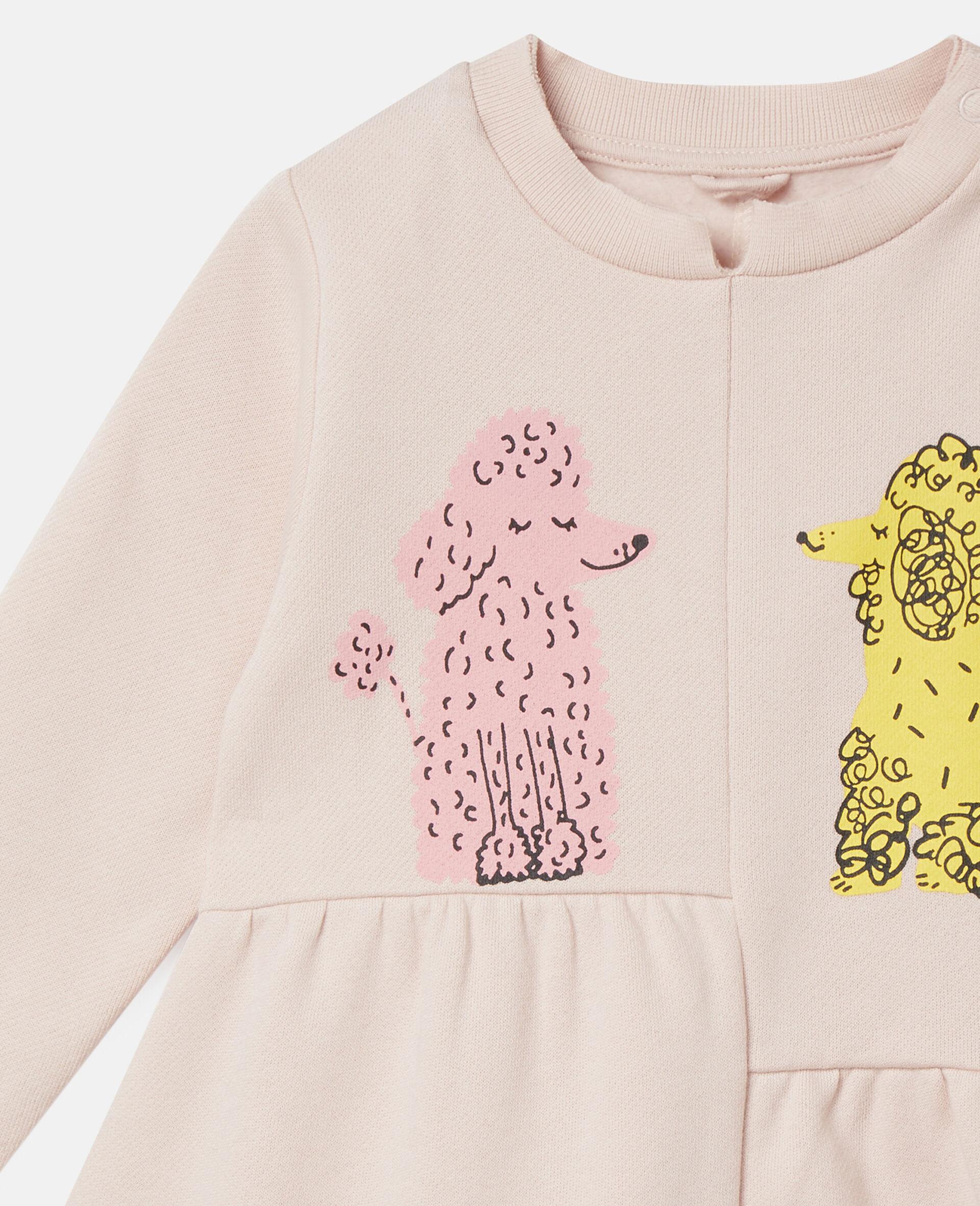 Love Poodles Fleece Dress-Pink-large image number 2