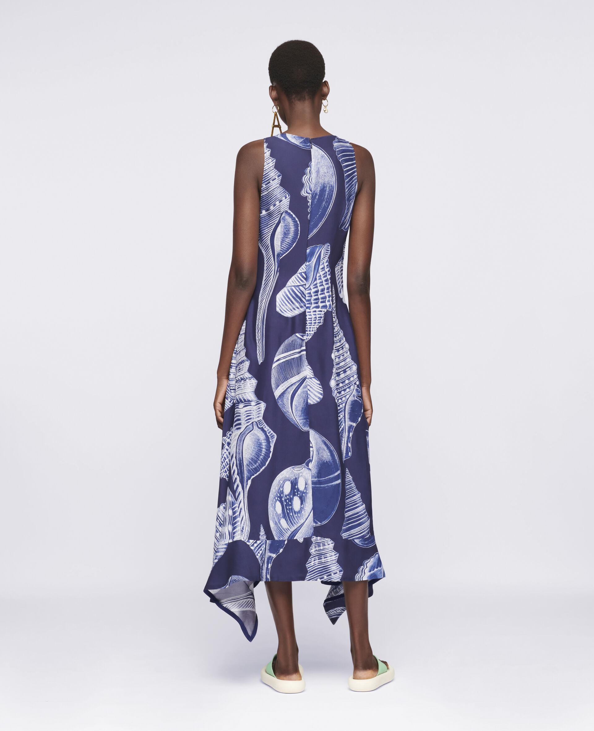 Anabelle Silk Dress-Blue-large image number 2