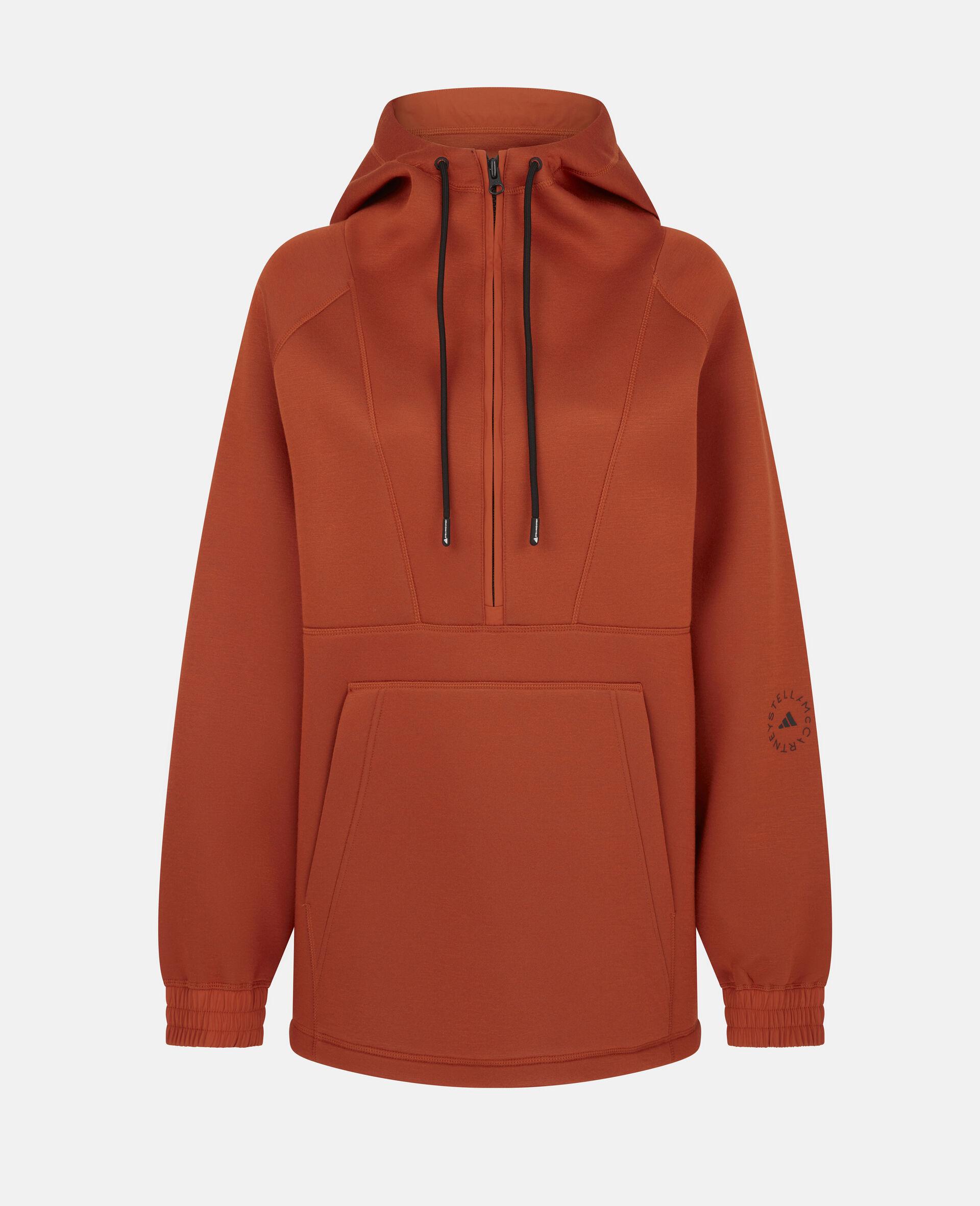 Sweat de sport à capuche orange-Orange-large image number 0