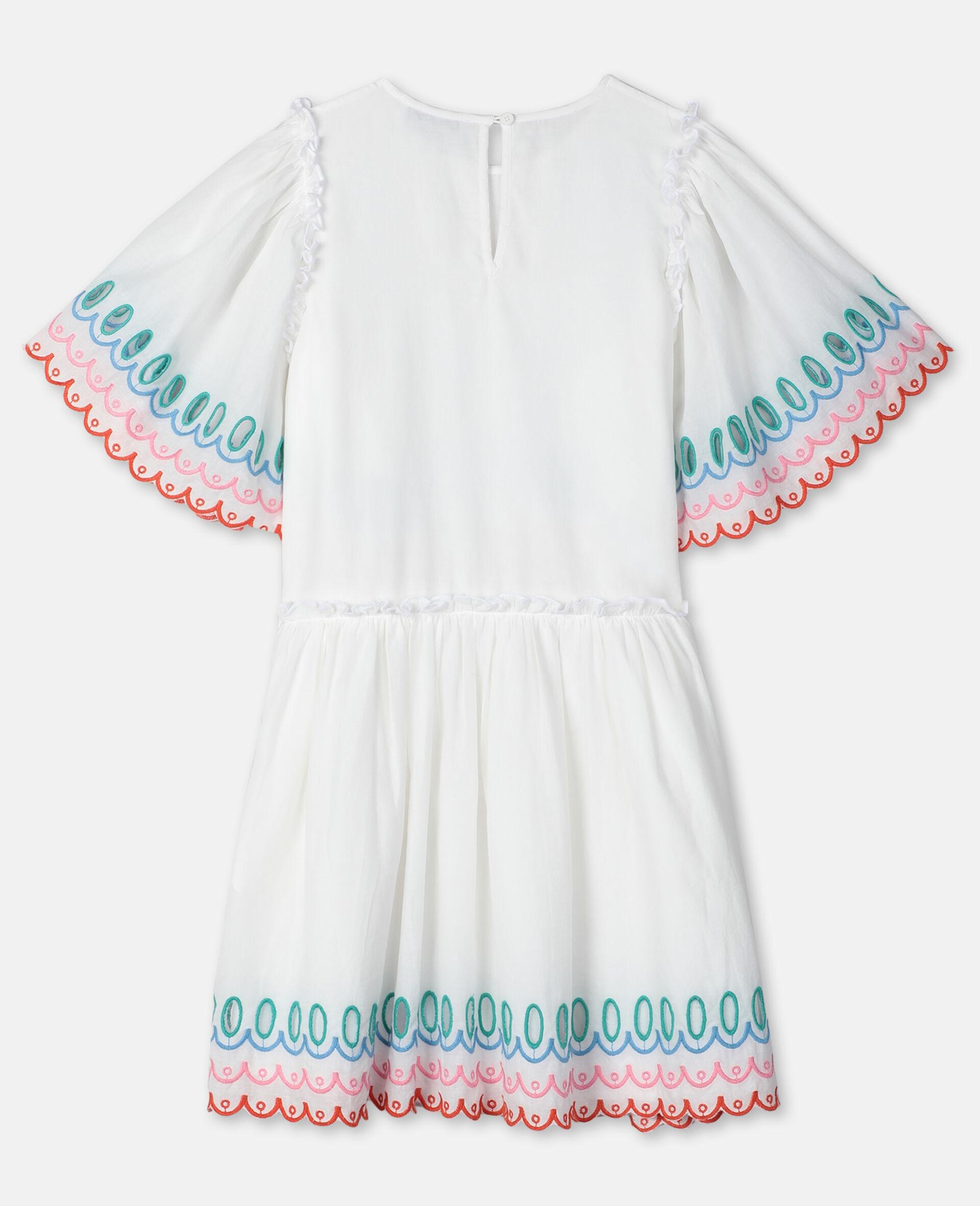 Scalloped Cotton Dress-White-large image number 3