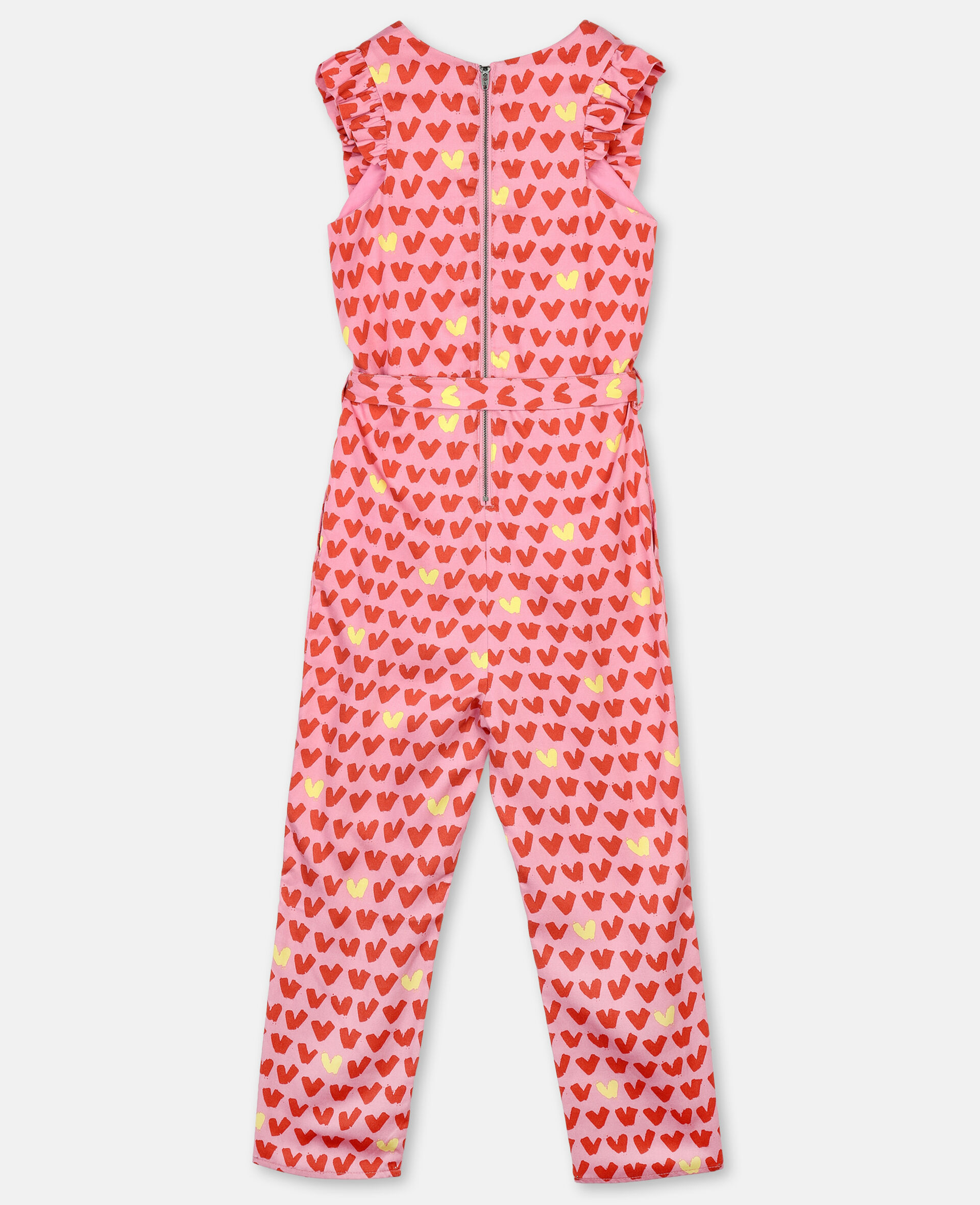 Hearts Tencel Twill Jumpsuit-Pink-large image number 3